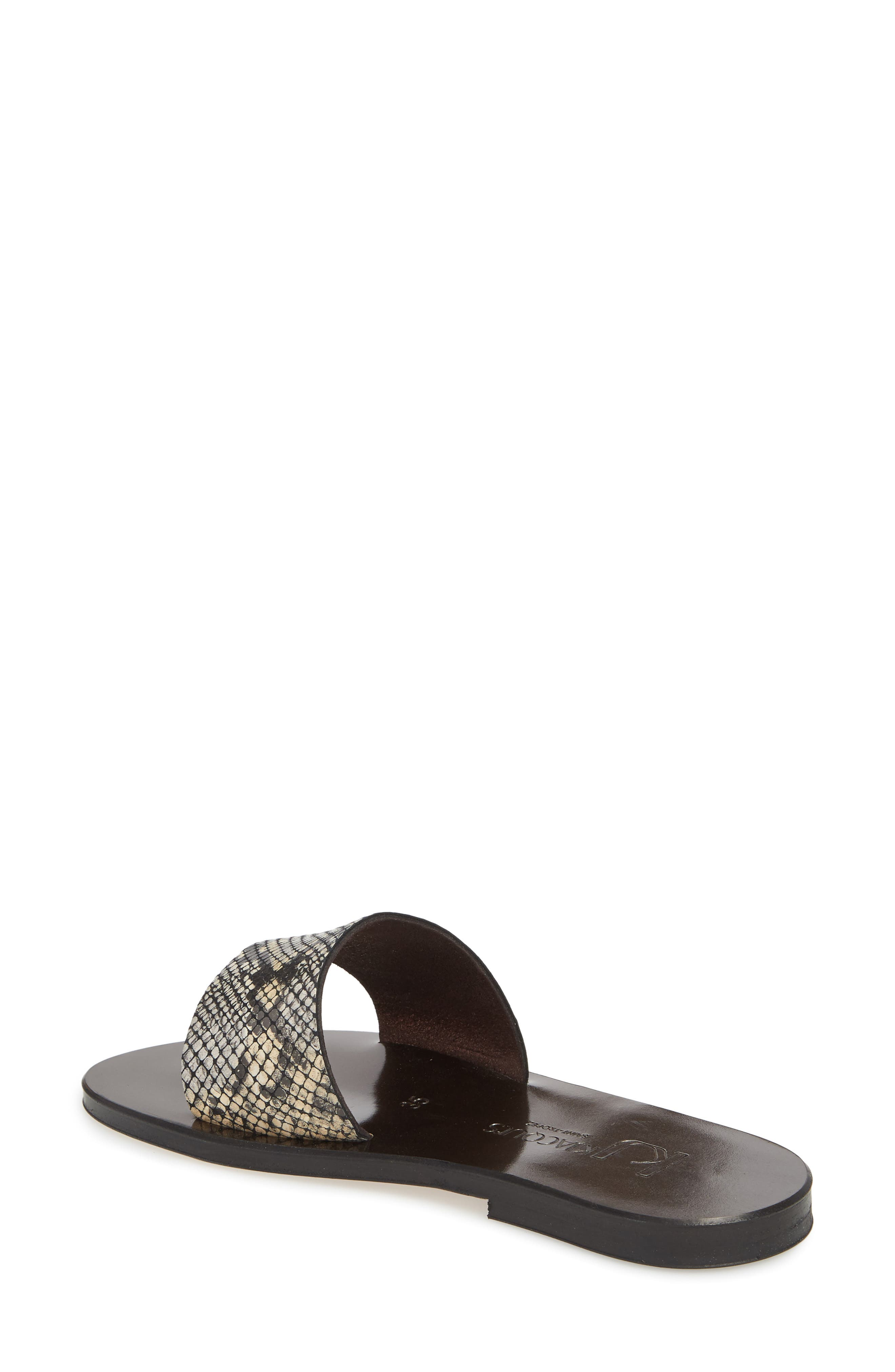 K. Jacques St. Tropez Arezzo Slide Sandal,                             Alternate thumbnail 2, color,                             Noir Leather