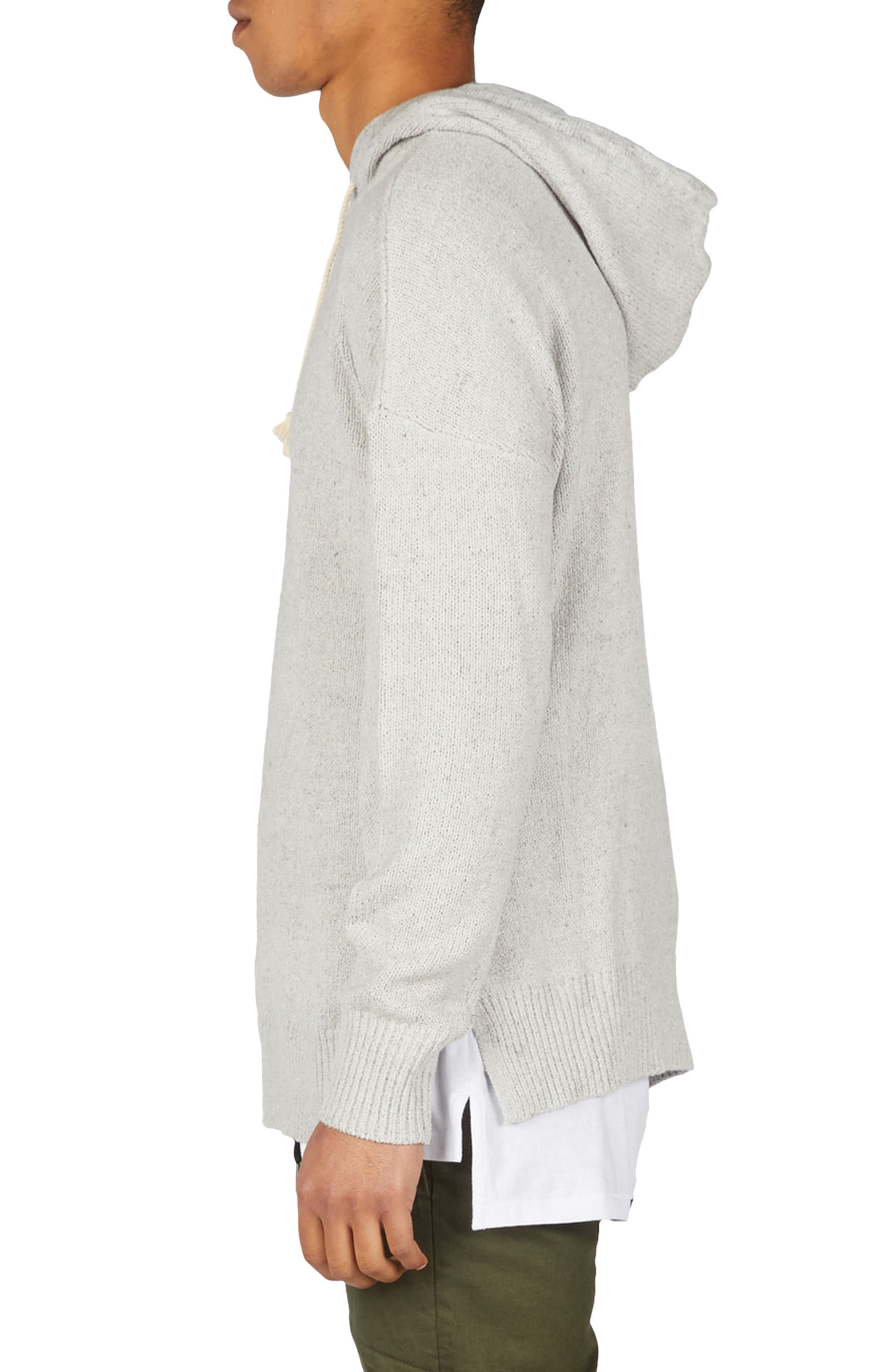 Towel Knit Hooded Sweatshirt,                             Alternate thumbnail 3, color,                             Grey