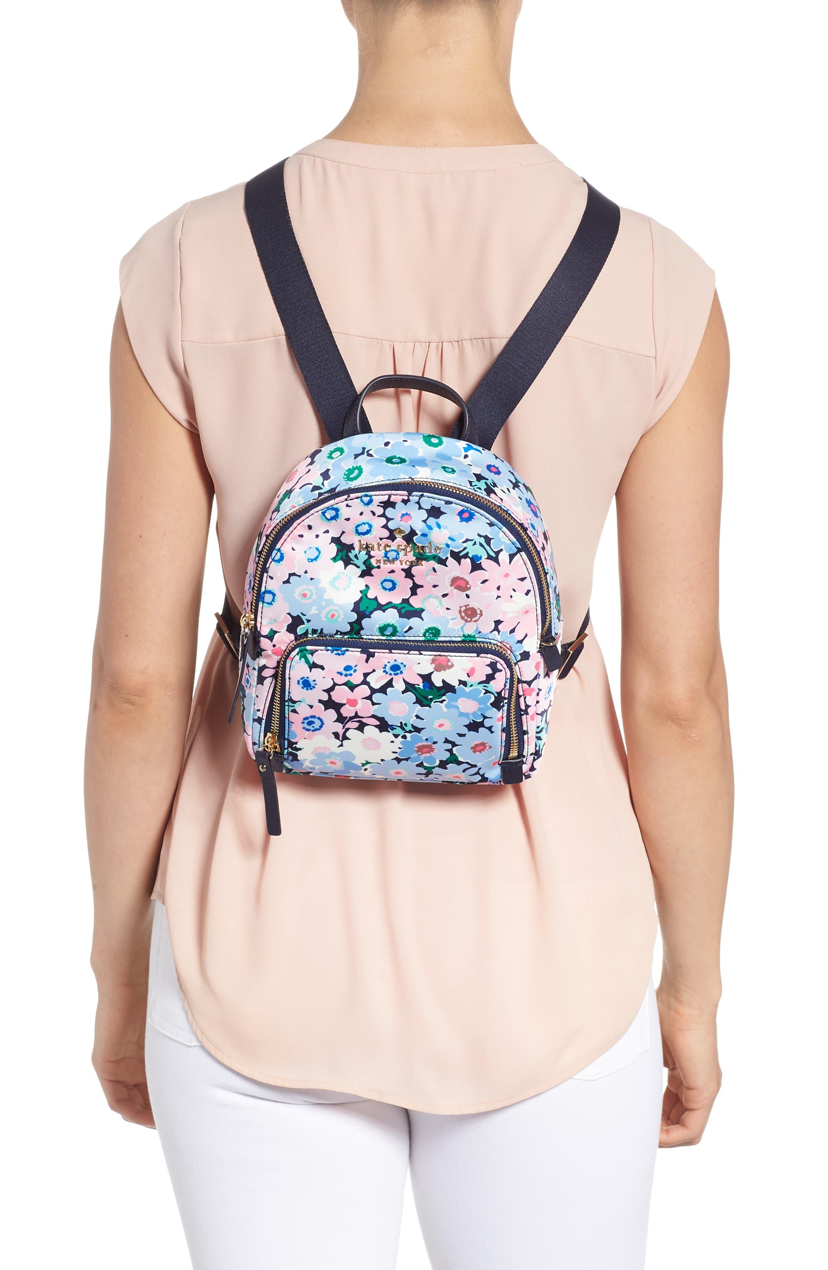 watson lane - daisy garden small hartley backpack,                             Alternate thumbnail 2, color,                             Blue Multi