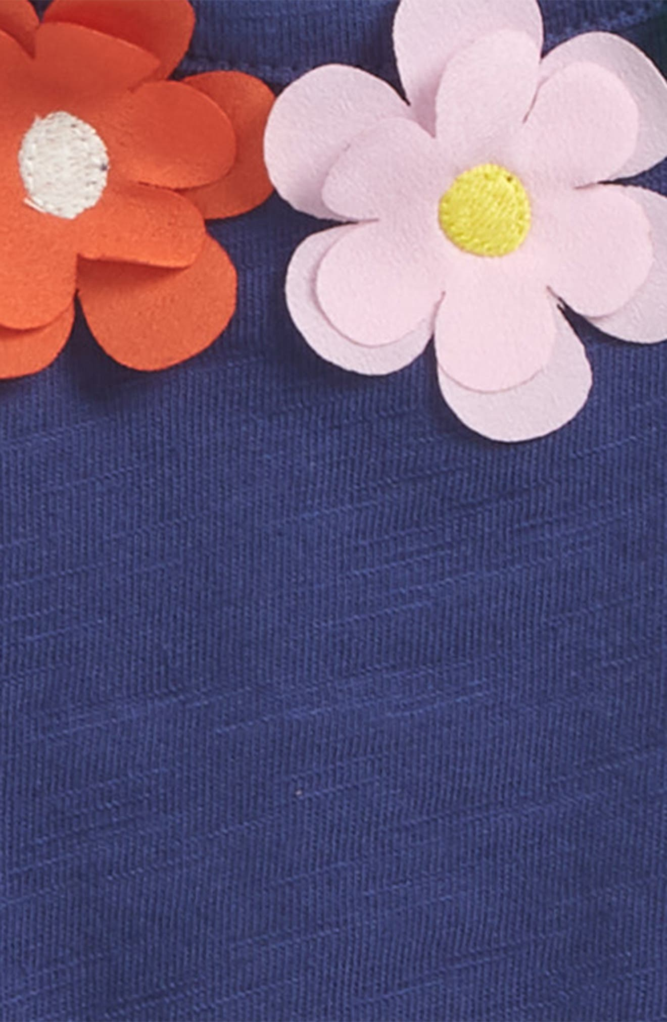 Flower Appliqué Tank,                             Alternate thumbnail 2, color,                             Starboard Blue