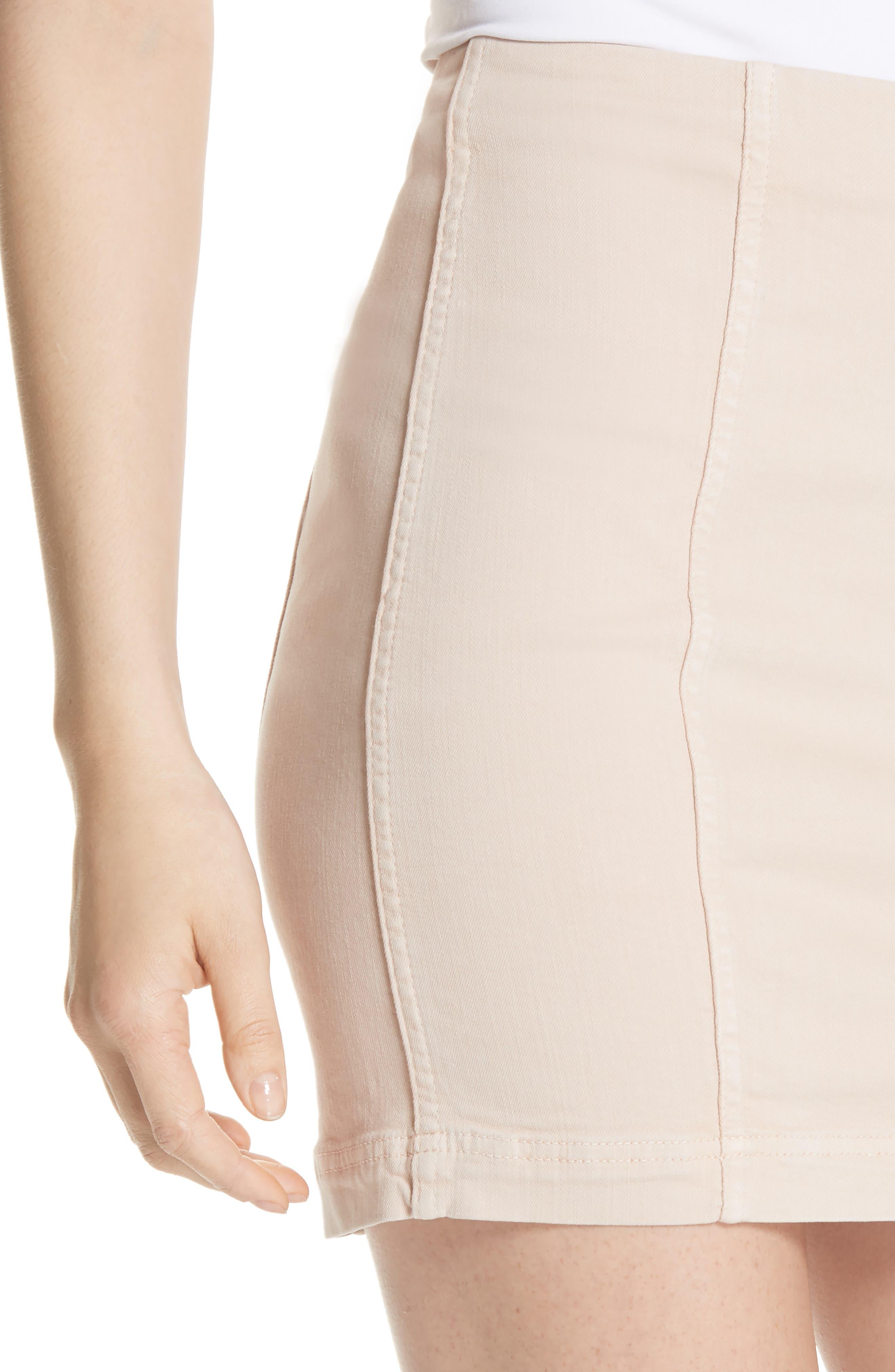 Modern Femme Miniskirt,                             Alternate thumbnail 4, color,                             Stone