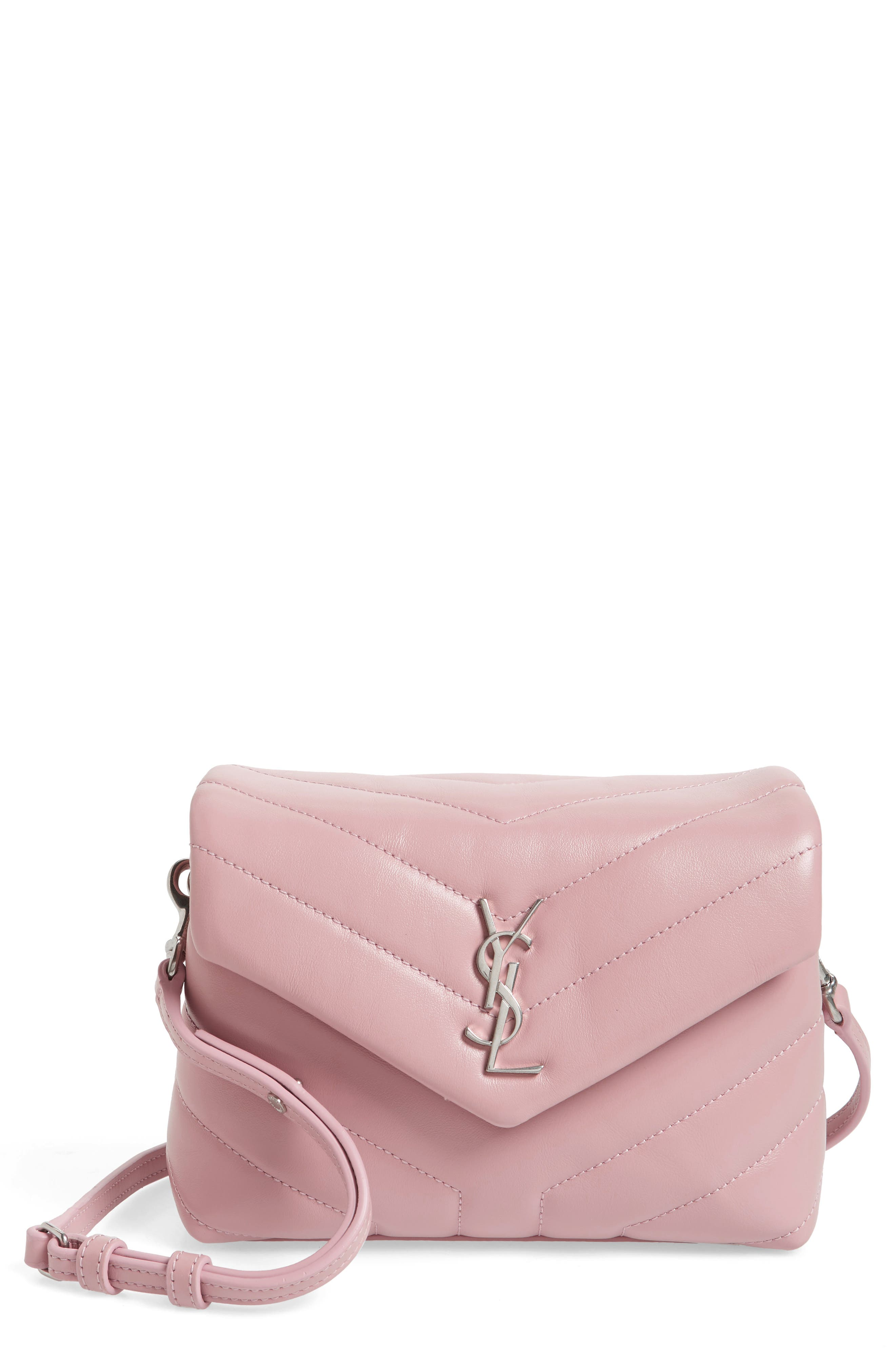 Toy LouLou Calfskin Leather Crossbody Bag,                             Main thumbnail 1, color,                             Tender Pink