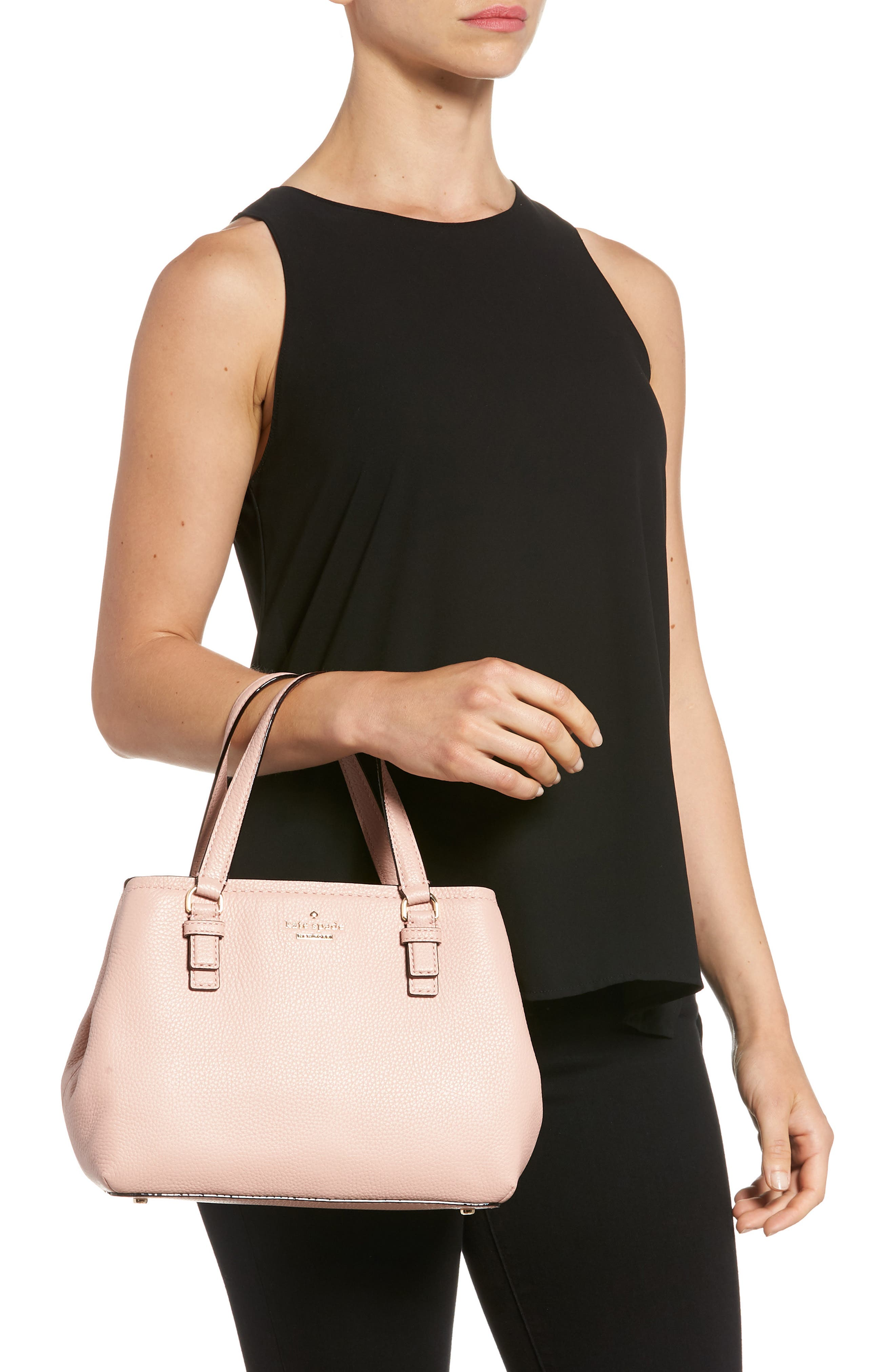 jackson street – small octavia leather satchel,                             Alternate thumbnail 2, color,                             Rosy Cheeks