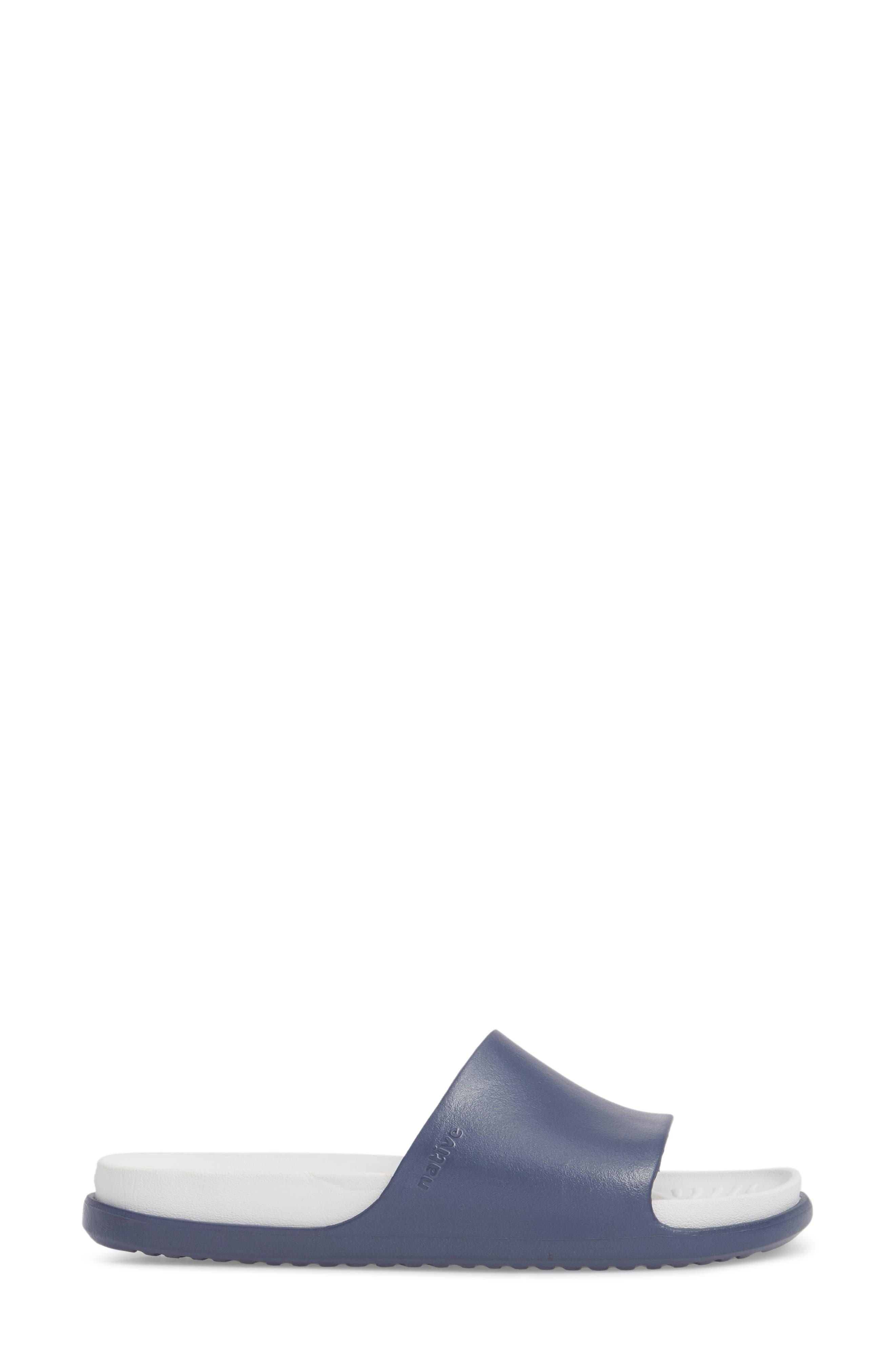 Spencer LX Sport Slide,                             Alternate thumbnail 3, color,                             Regatta Blue/ Shell White