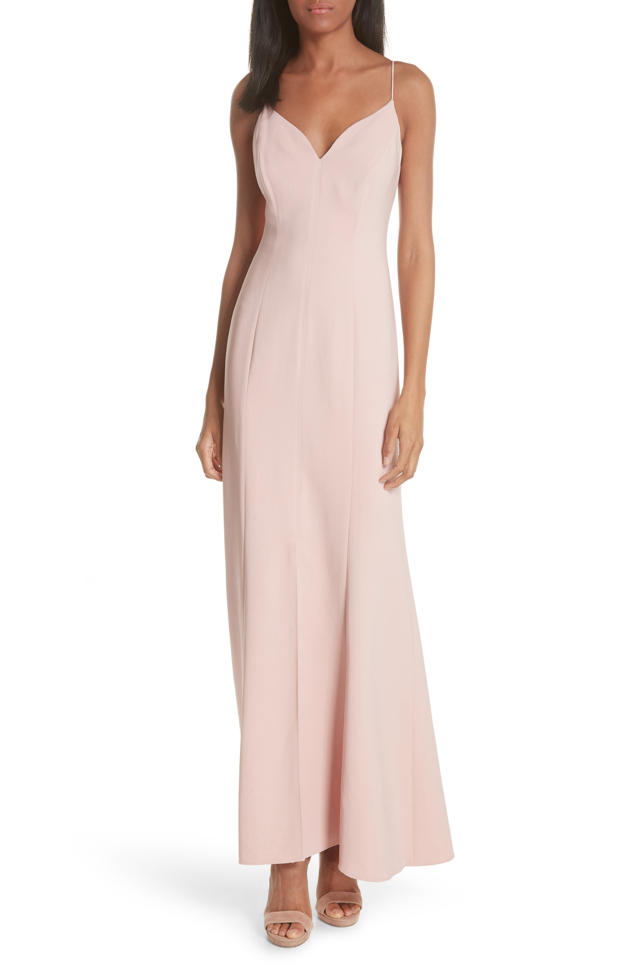 Slit Maxi Slipdress,                         Main,                         color, Cosmetic Pink