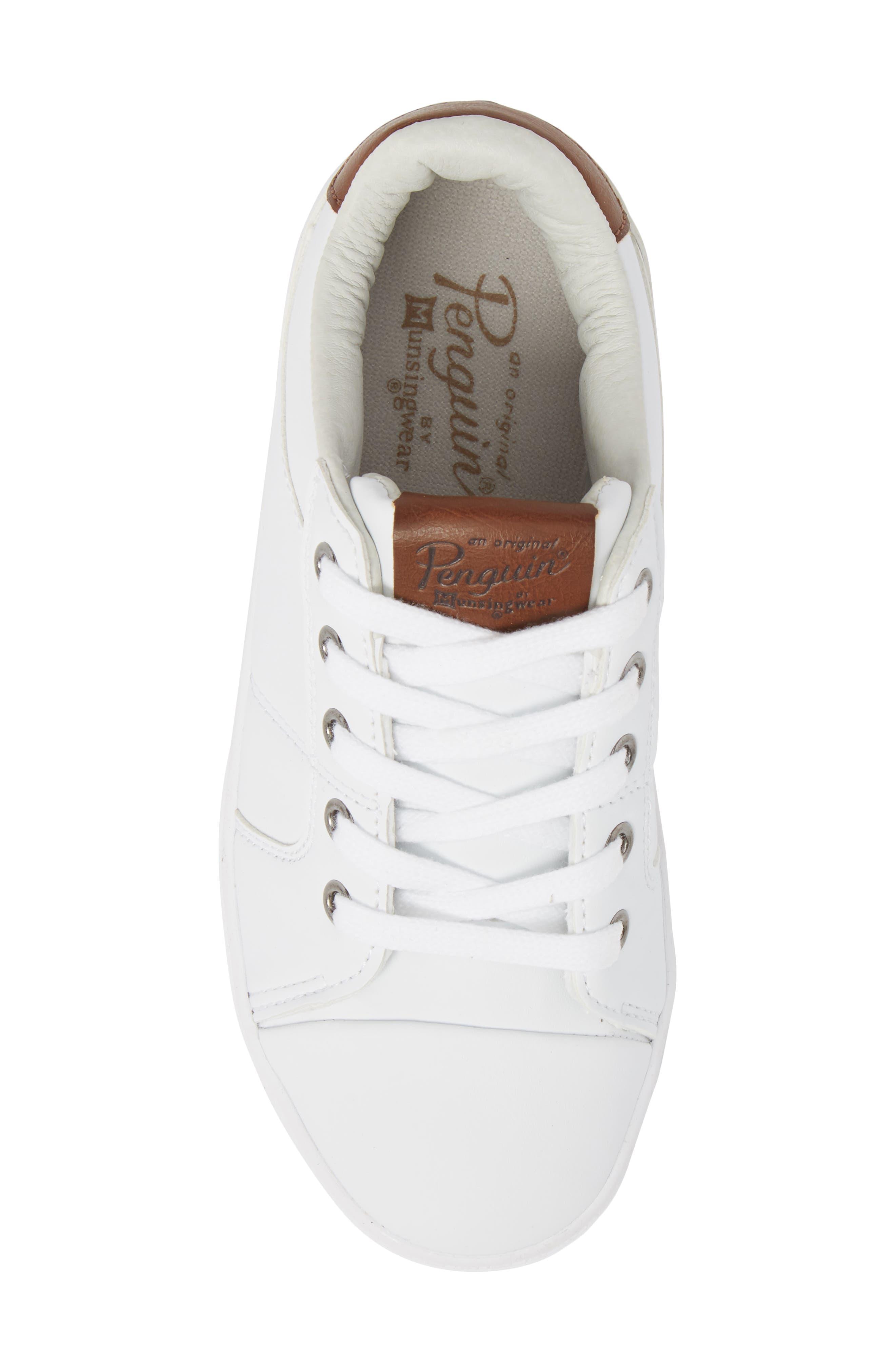 Cobin Sneaker,                             Alternate thumbnail 5, color,                             White/ Cognac