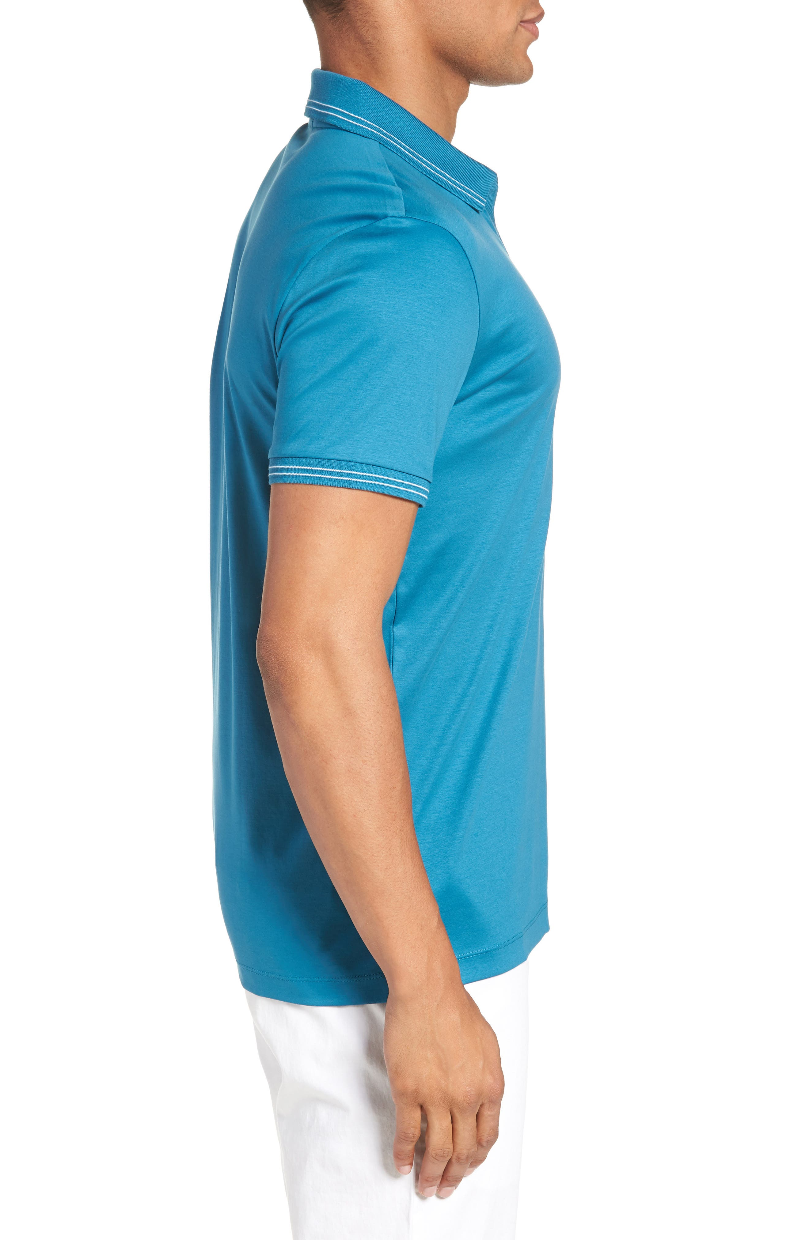 Parlay Johnny Polo Shirt,                             Alternate thumbnail 3, color,                             Blue