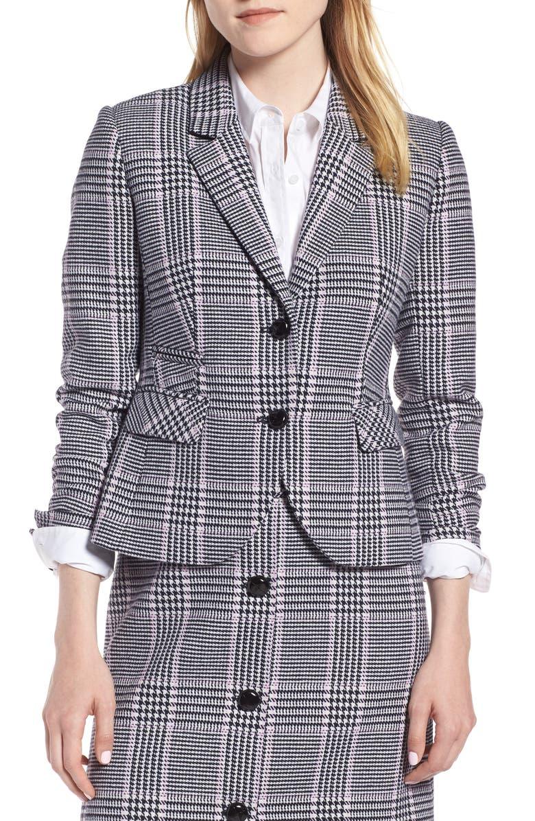Shrunken Houndstooth Suit Jacket
