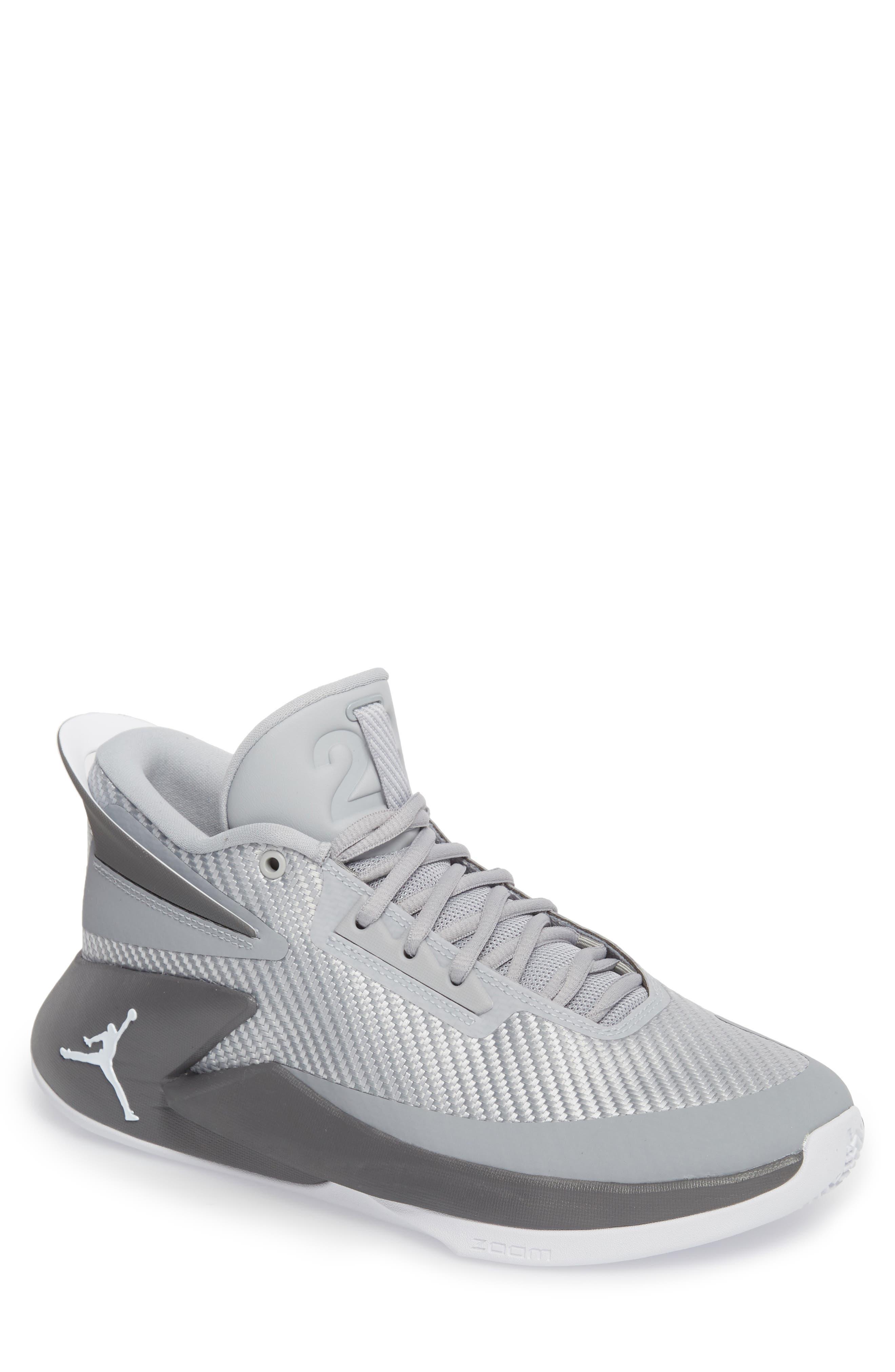 Jordan Fly Lockdown Sneaker,                         Main,                         color, Wolf Grey/ White/ Dark Grey