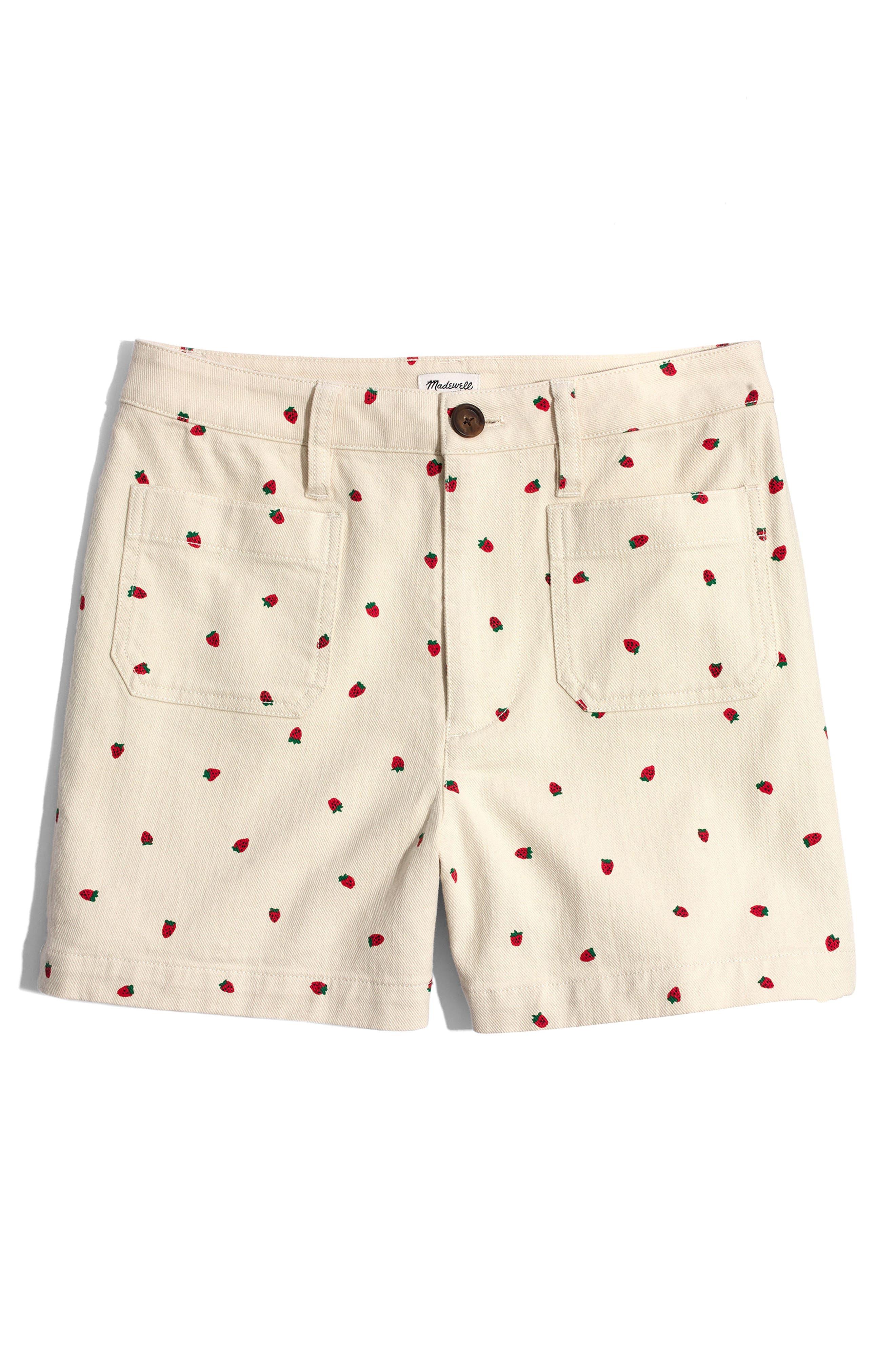 Emmett Fresh Strawberries Shorts,                             Alternate thumbnail 4, color,                             Strawberry Distressed Stone