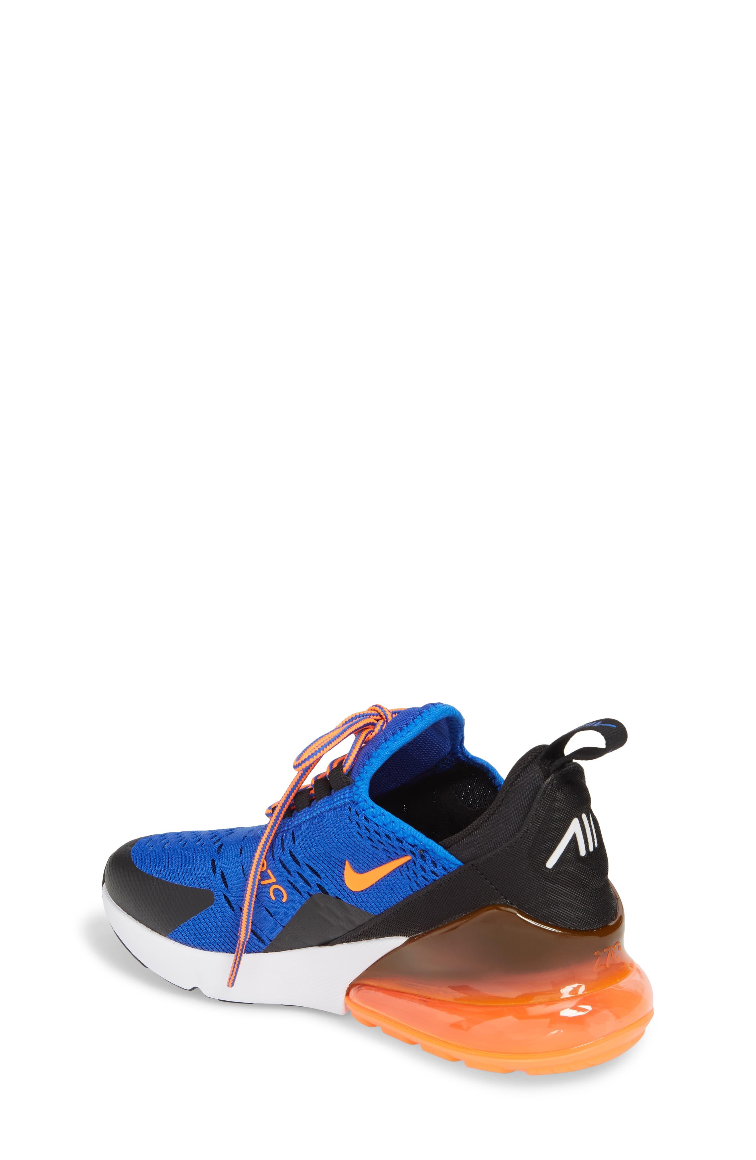 Air Max 270 Sneaker,                             Alternate thumbnail 2, color,                             Racer Blue/ Crimson/ Black