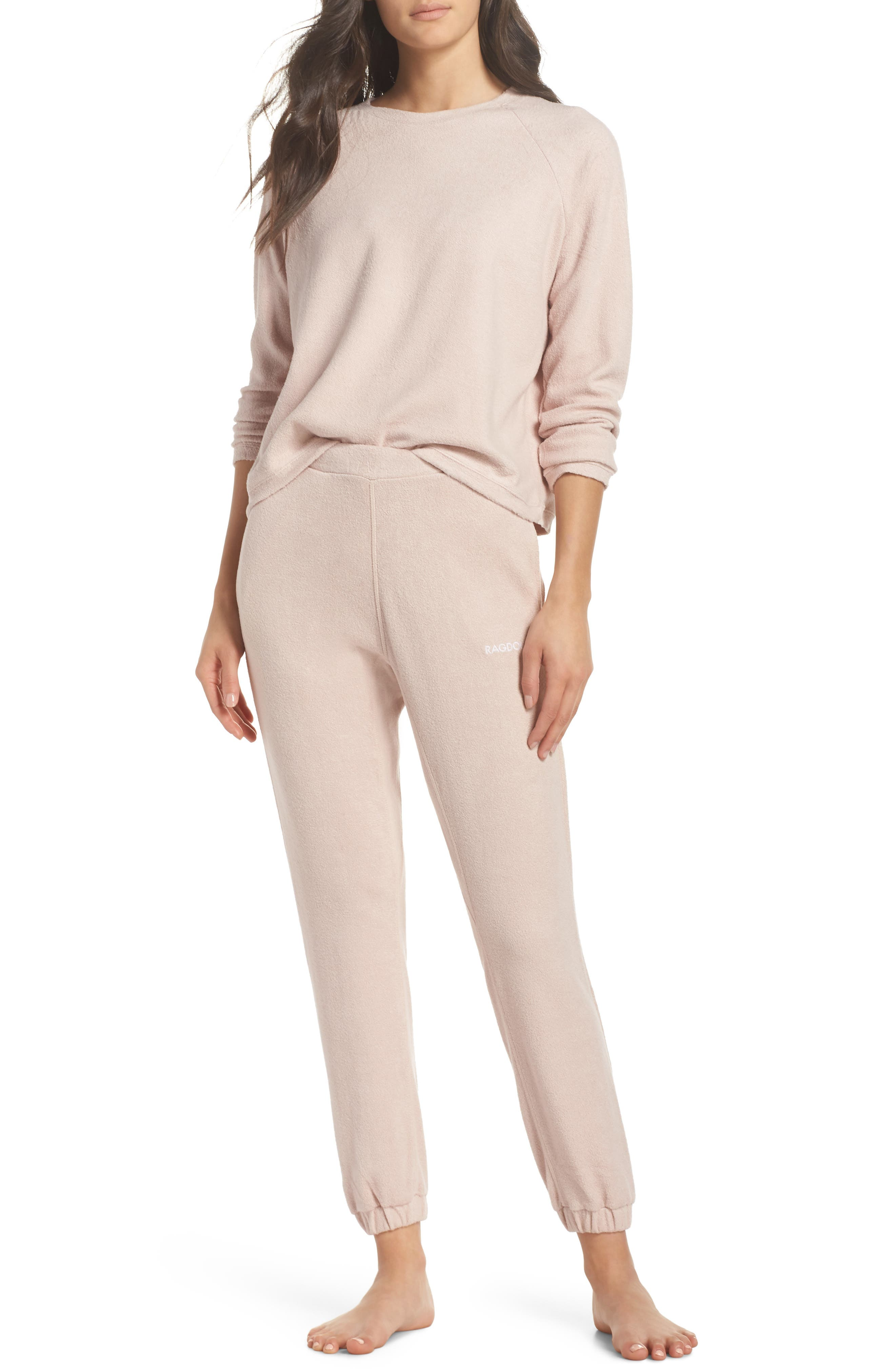Lounge Pant,                             Alternate thumbnail 4, color,                             Dusty Pink