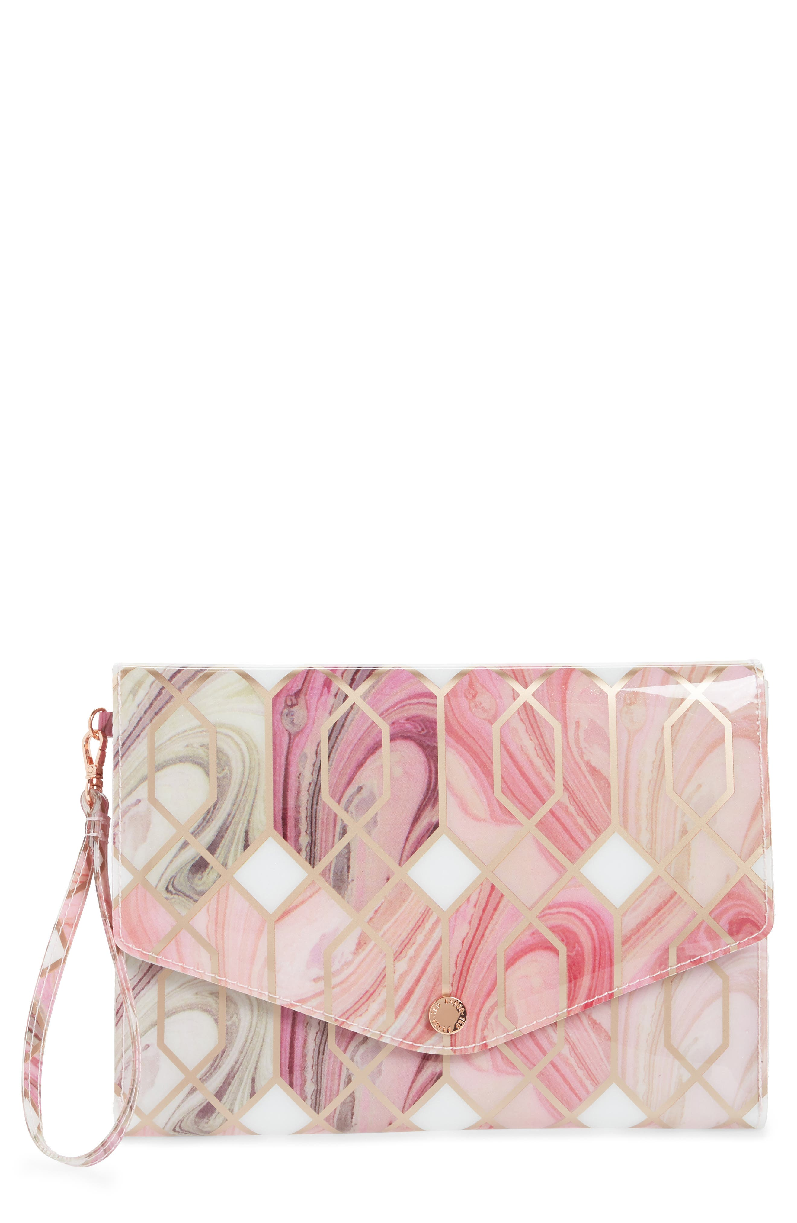 Sea of Clouds Envelope Clutch,                             Main thumbnail 1, color,                             White