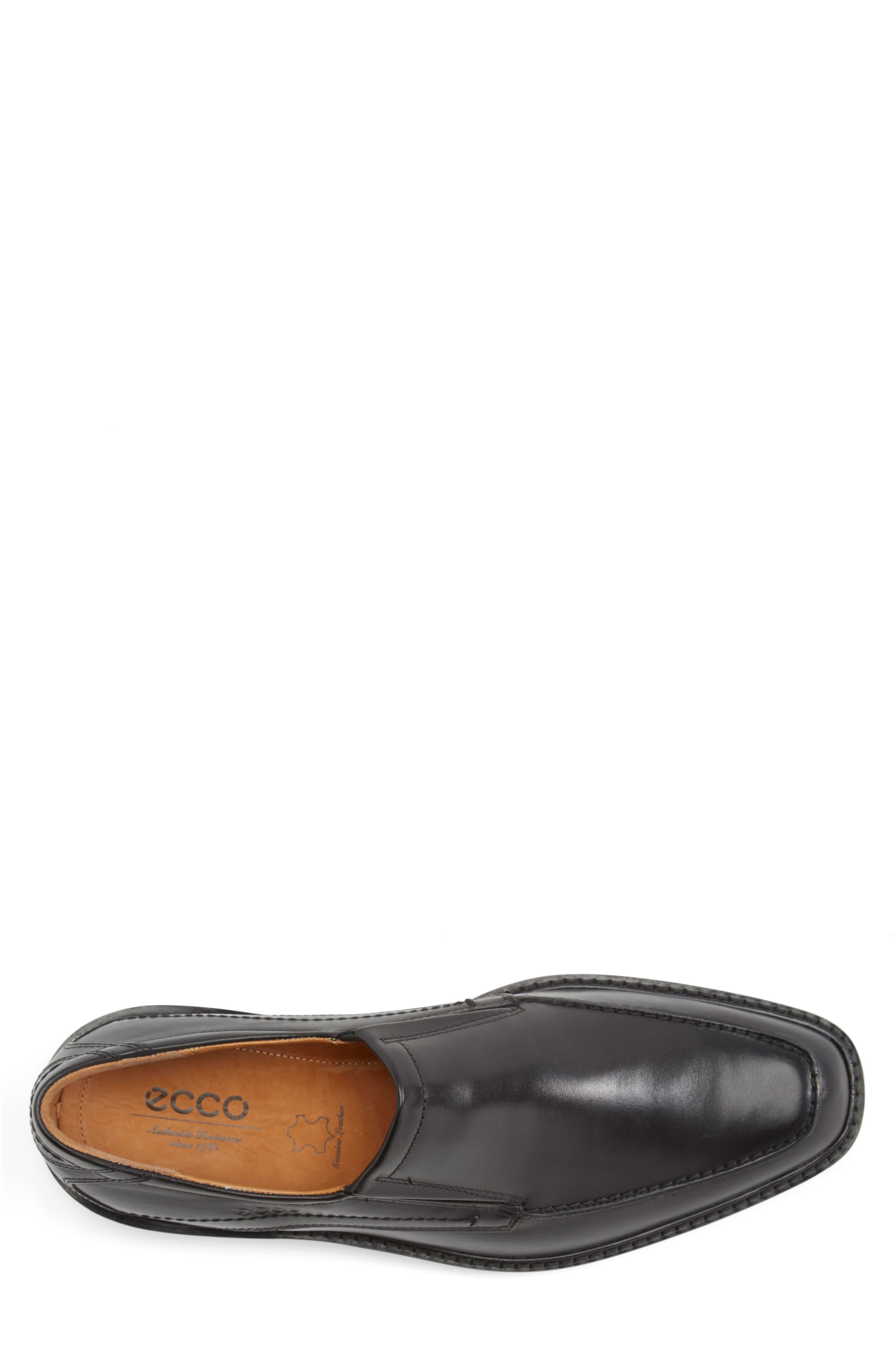 'Windsor' Slip-On,                             Alternate thumbnail 3, color,                             Black/Black Leather