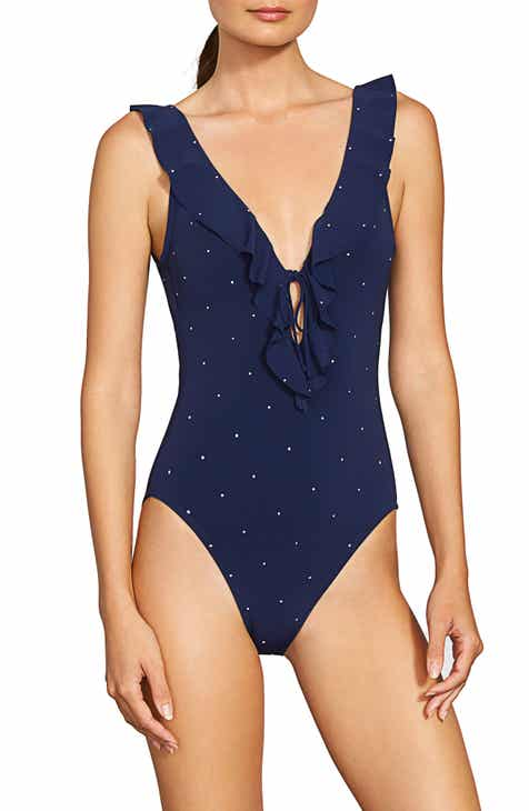 041194f70528e Robin Piccone Jennie Plunge One-Piece Swimsuit