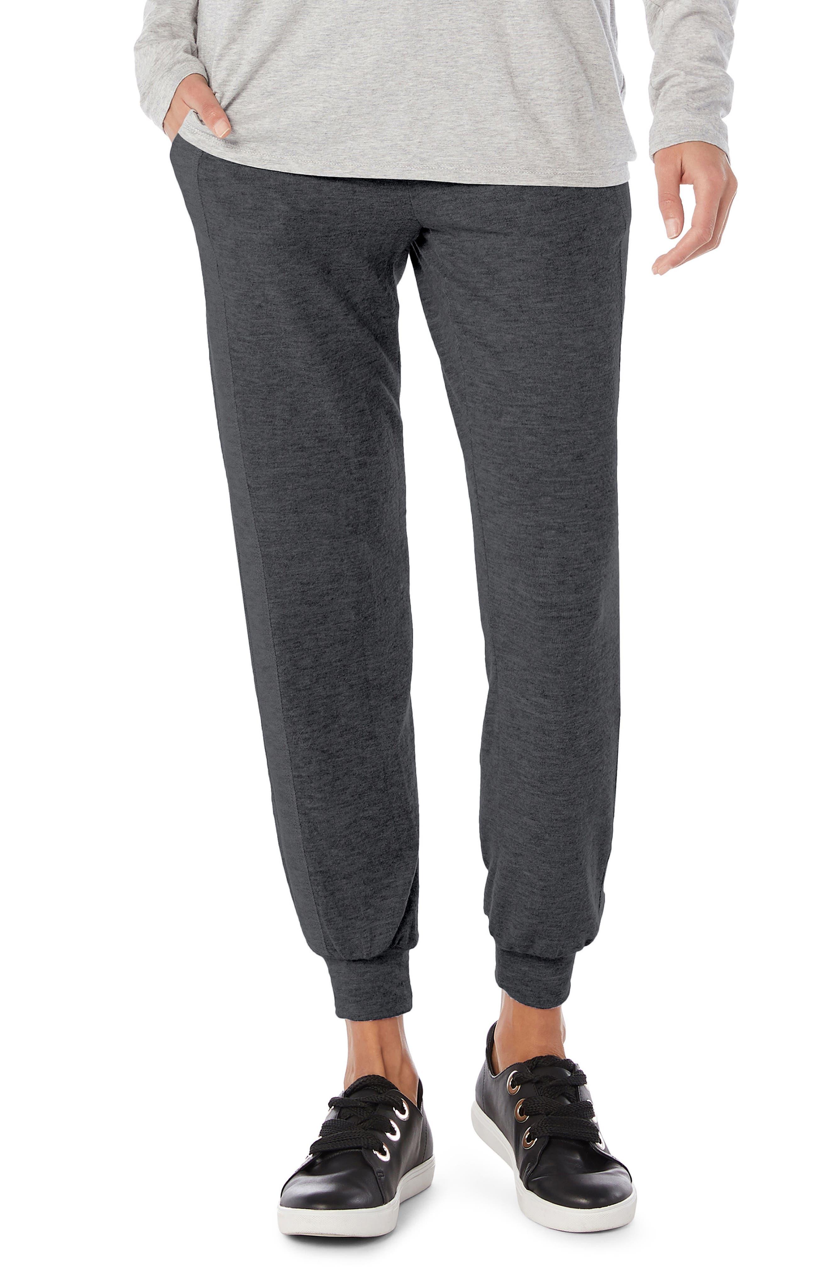 Drawstring Pull-on Pants,                         Main,                         color, Charcoal