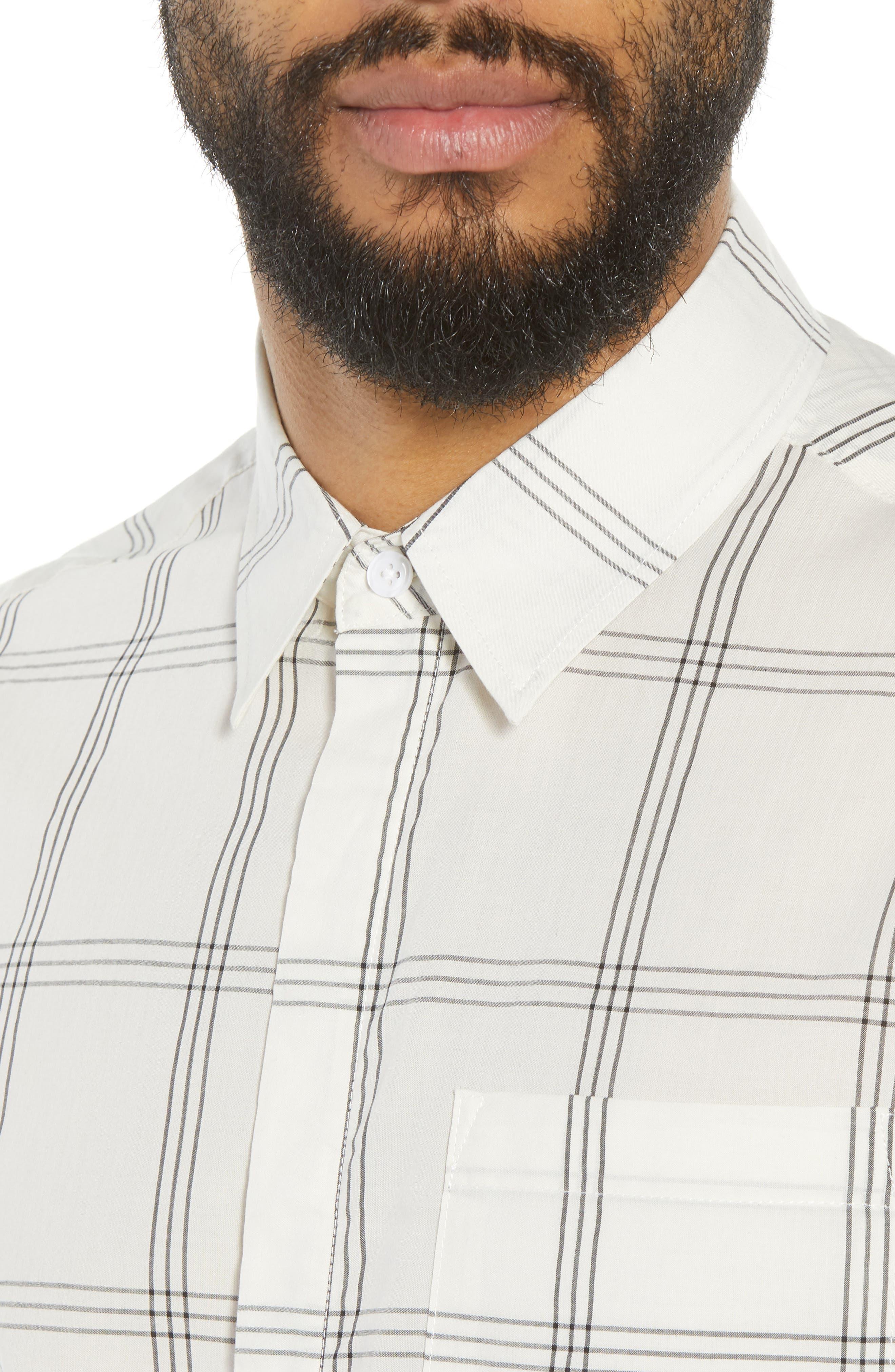 Mickey Windowpane Woven Shirt,                             Alternate thumbnail 2, color,                             White