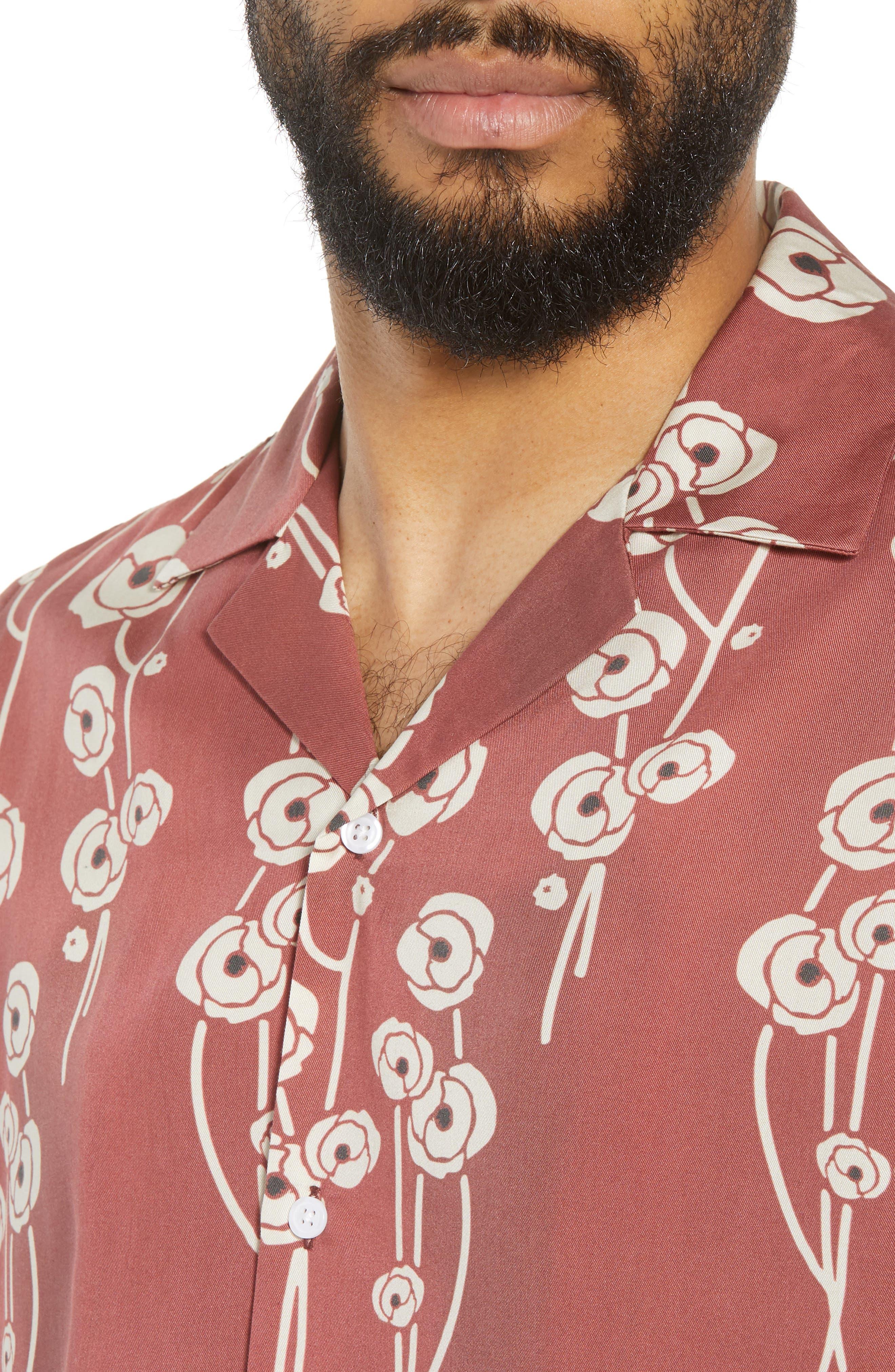 Canty Poppy Woven Shirt,                             Alternate thumbnail 2, color,                             Brick