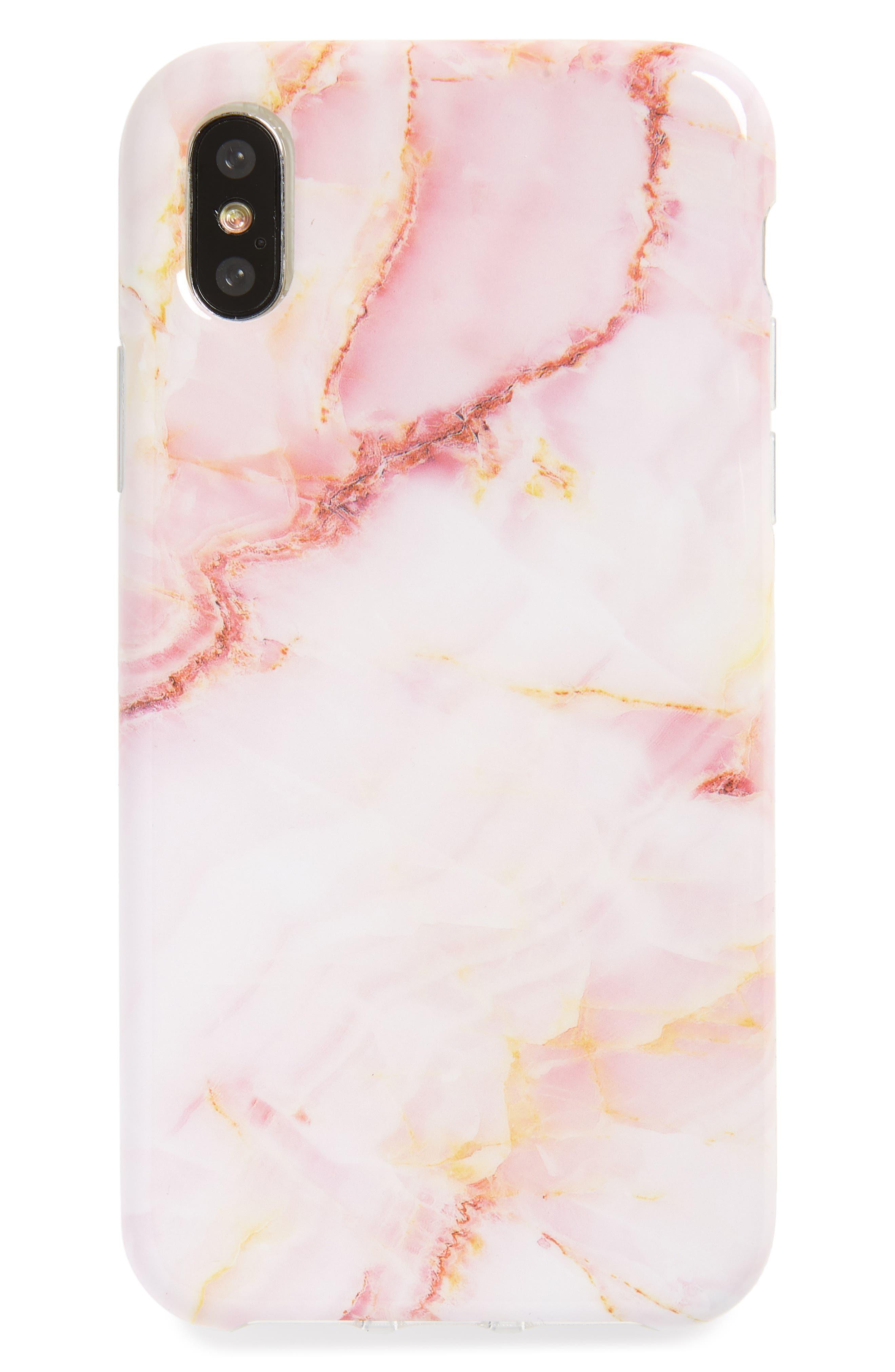 Quartz Print iPhone X Case,                             Main thumbnail 1, color,                             Miscellaneous