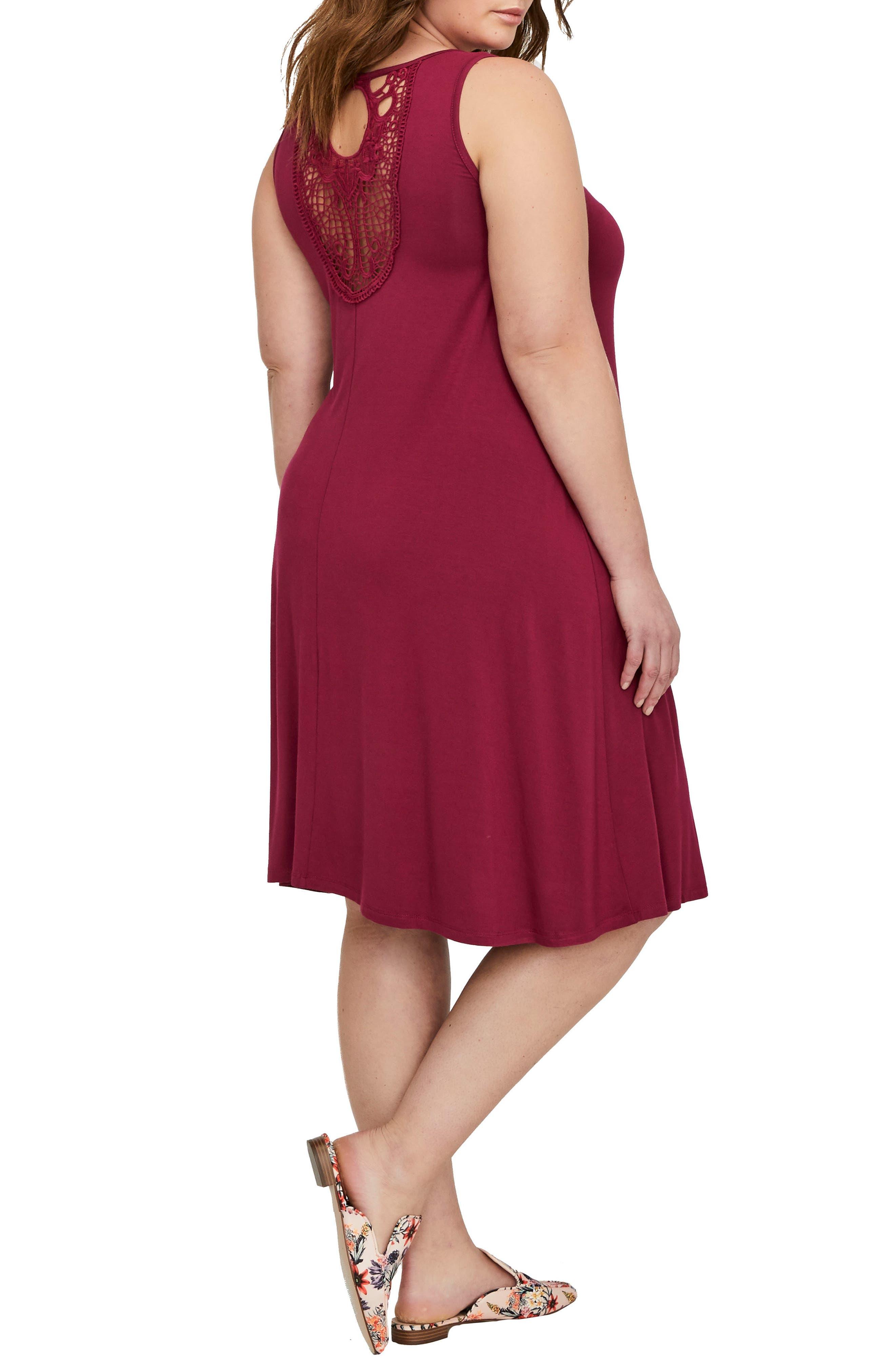 Tank Dress,                             Alternate thumbnail 2, color,                             Red Plum