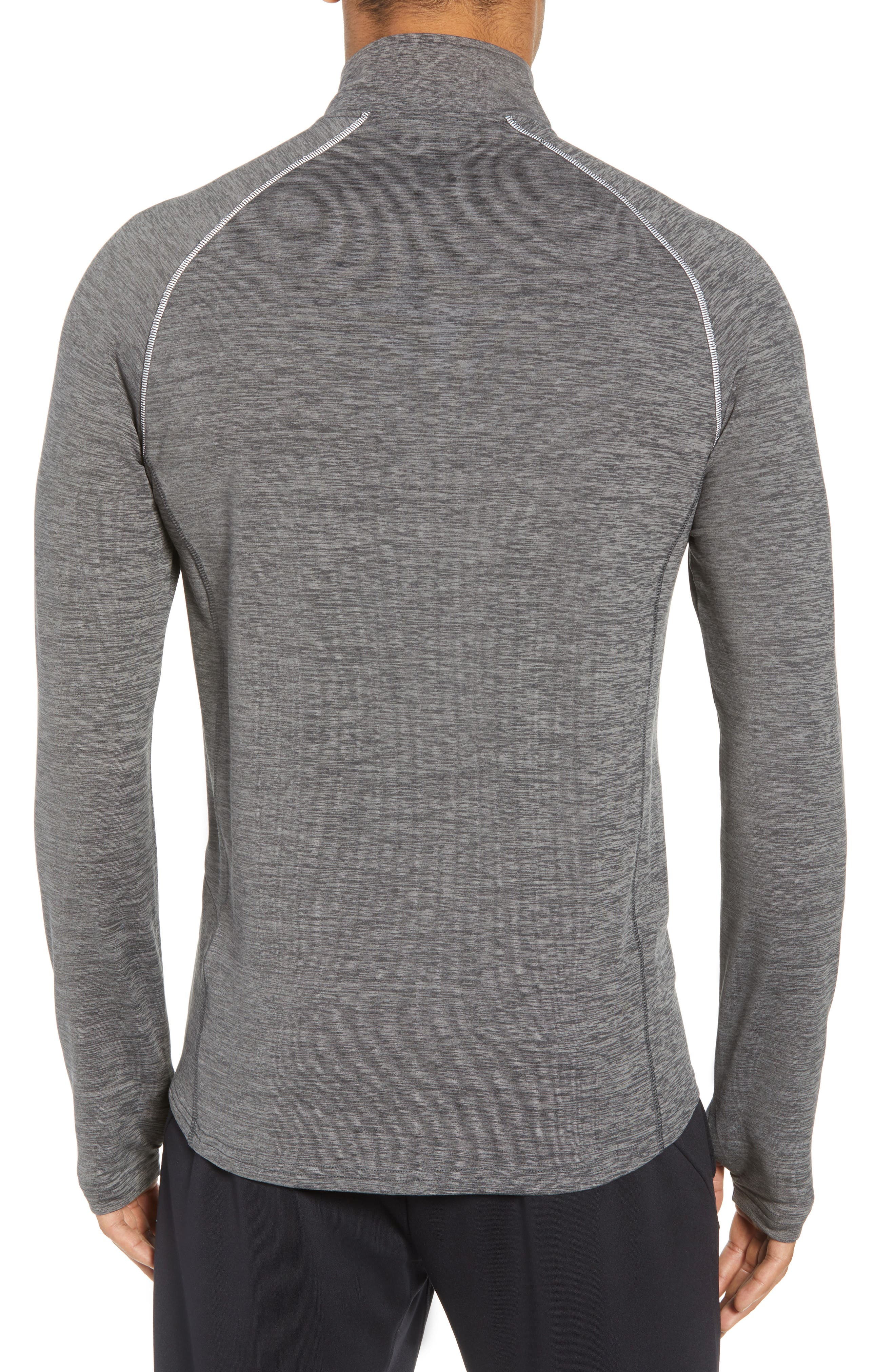 Core Half Zip Sweatshirt,                             Alternate thumbnail 2, color,                             Black Pepper Spacedye