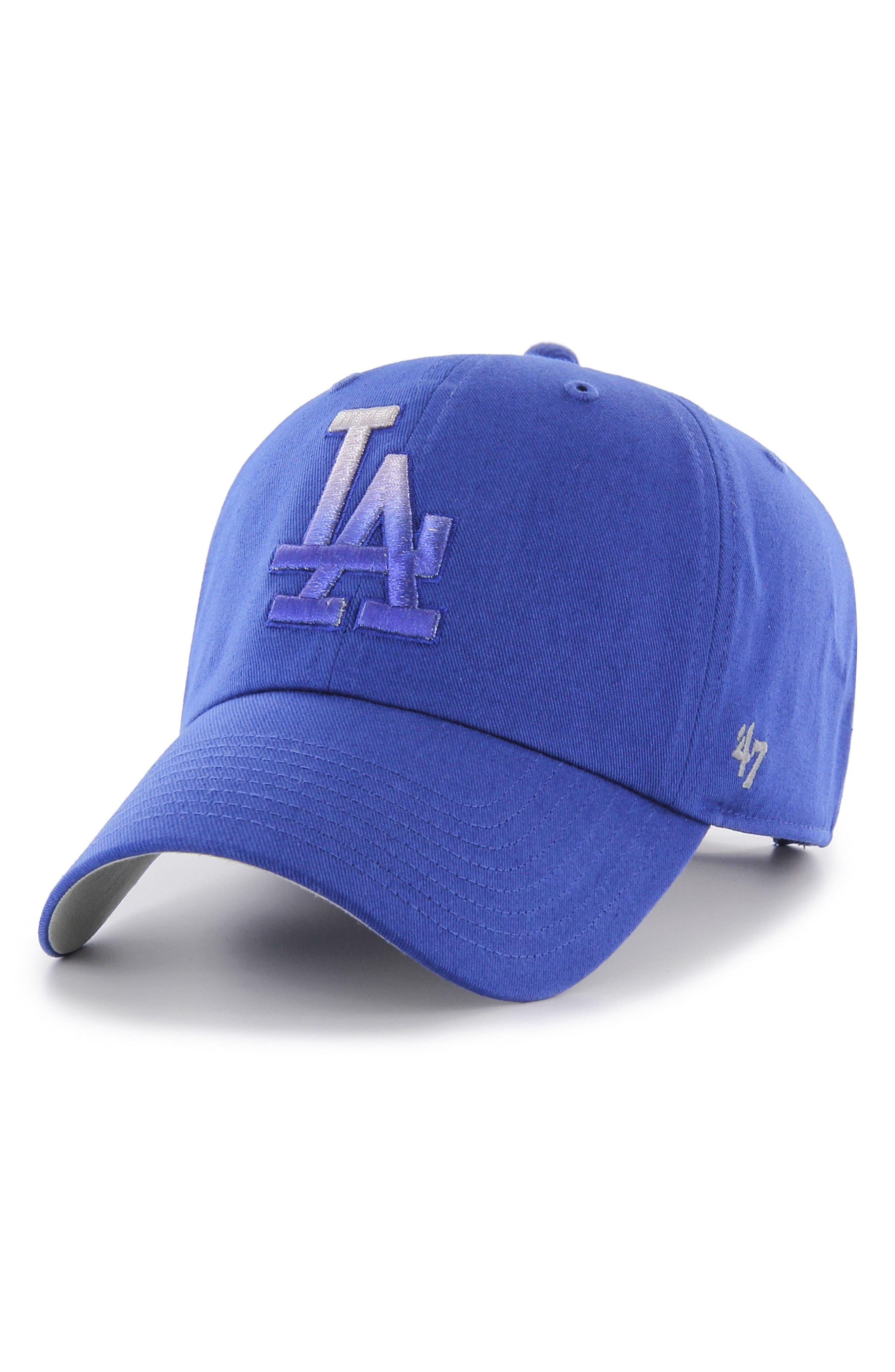 Falton MLB Logo Ball Cap,                         Main,                         color, Dodgers