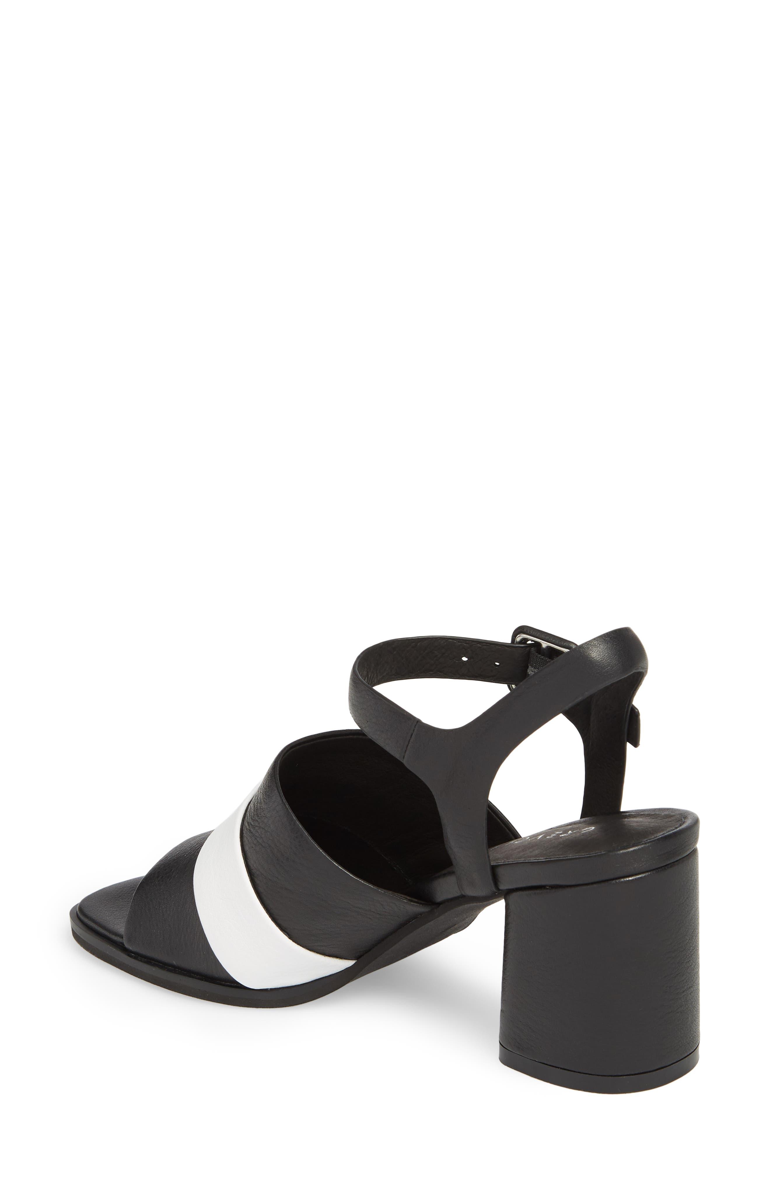 Ren Sandal,                             Alternate thumbnail 2, color,                             Black/ White