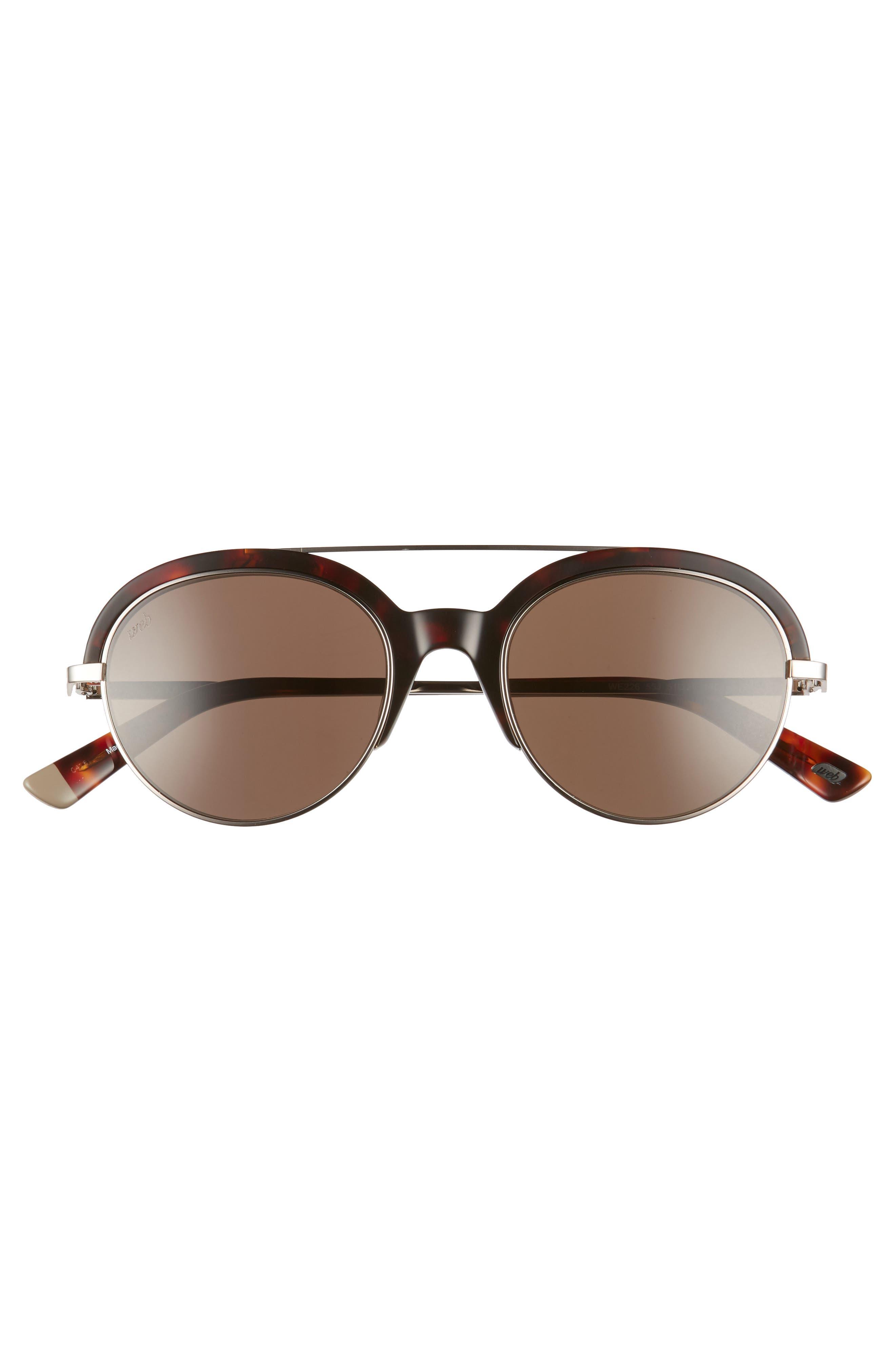 51mm Aviator Sunglasses,                             Alternate thumbnail 2, color,                             Colored Havana/ Roviex