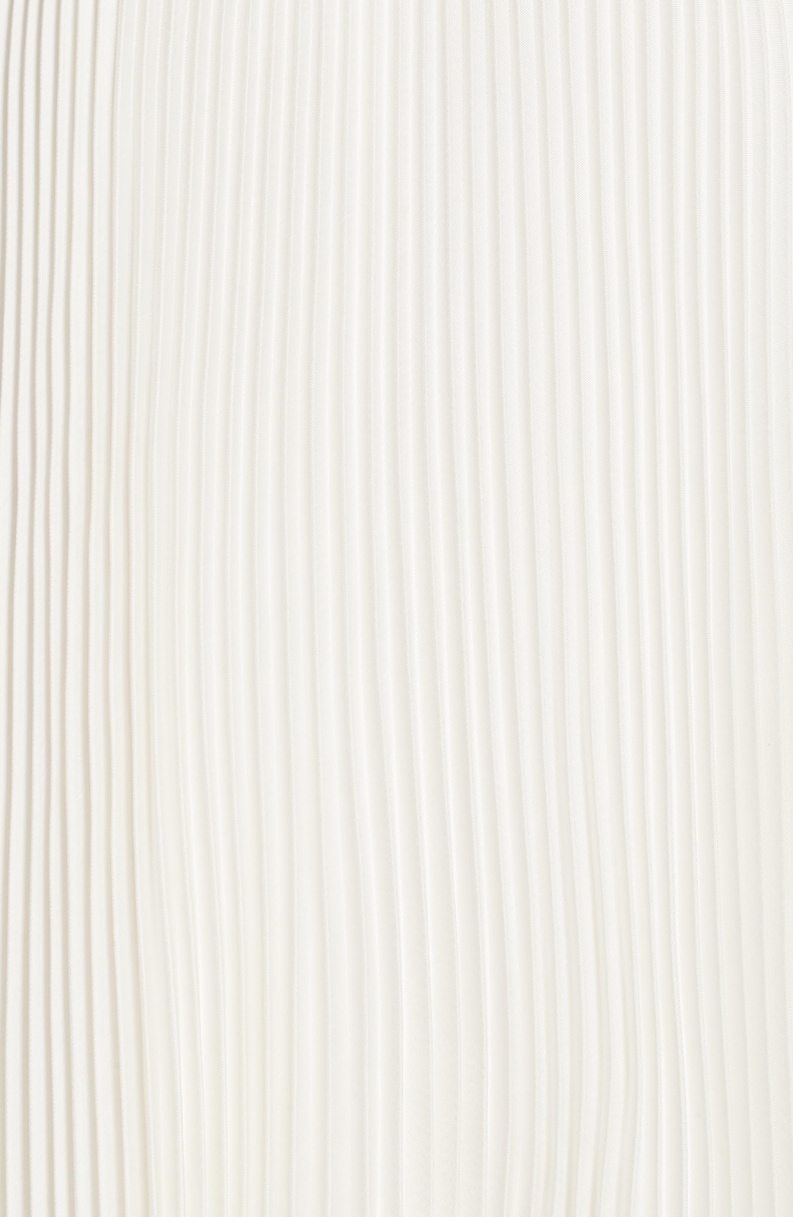 Pleat Midi Shirtdress,                             Alternate thumbnail 3, color,                             White