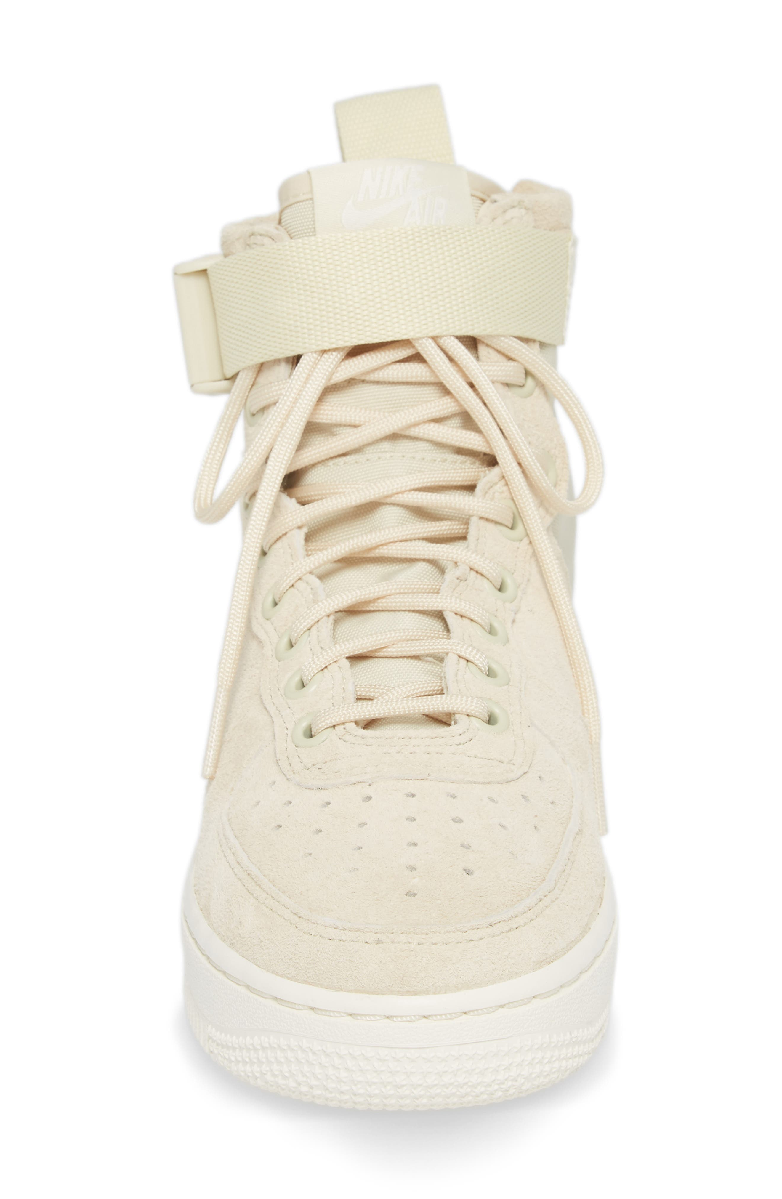 SF Air Force 1 Mid Sneaker,                             Alternate thumbnail 4, color,                             Fossil/ Sail