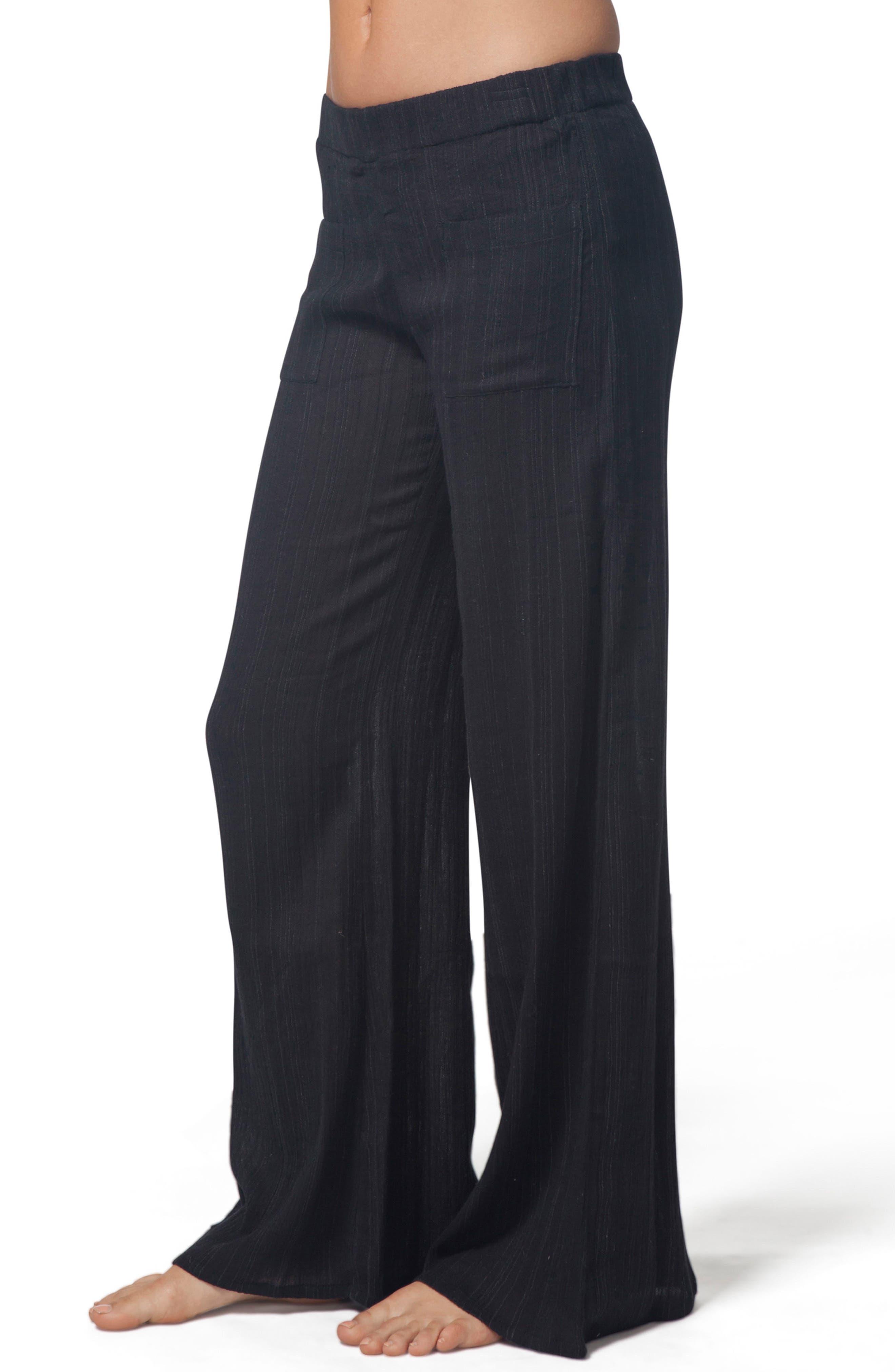 Classic Surf Beach Pants,                             Alternate thumbnail 4, color,                             Black