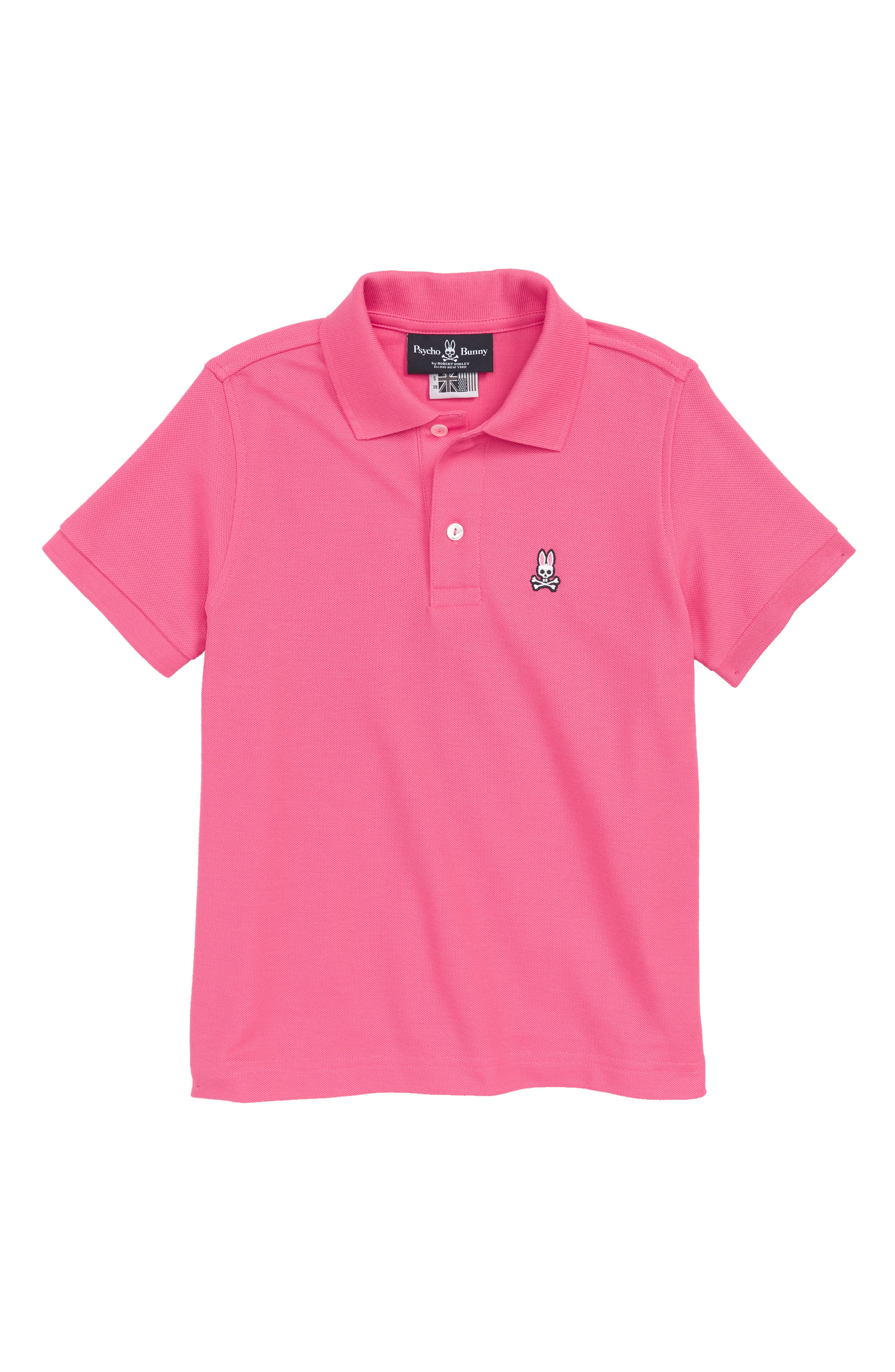 Classic Polo,                         Main,                         color, Hot Pink