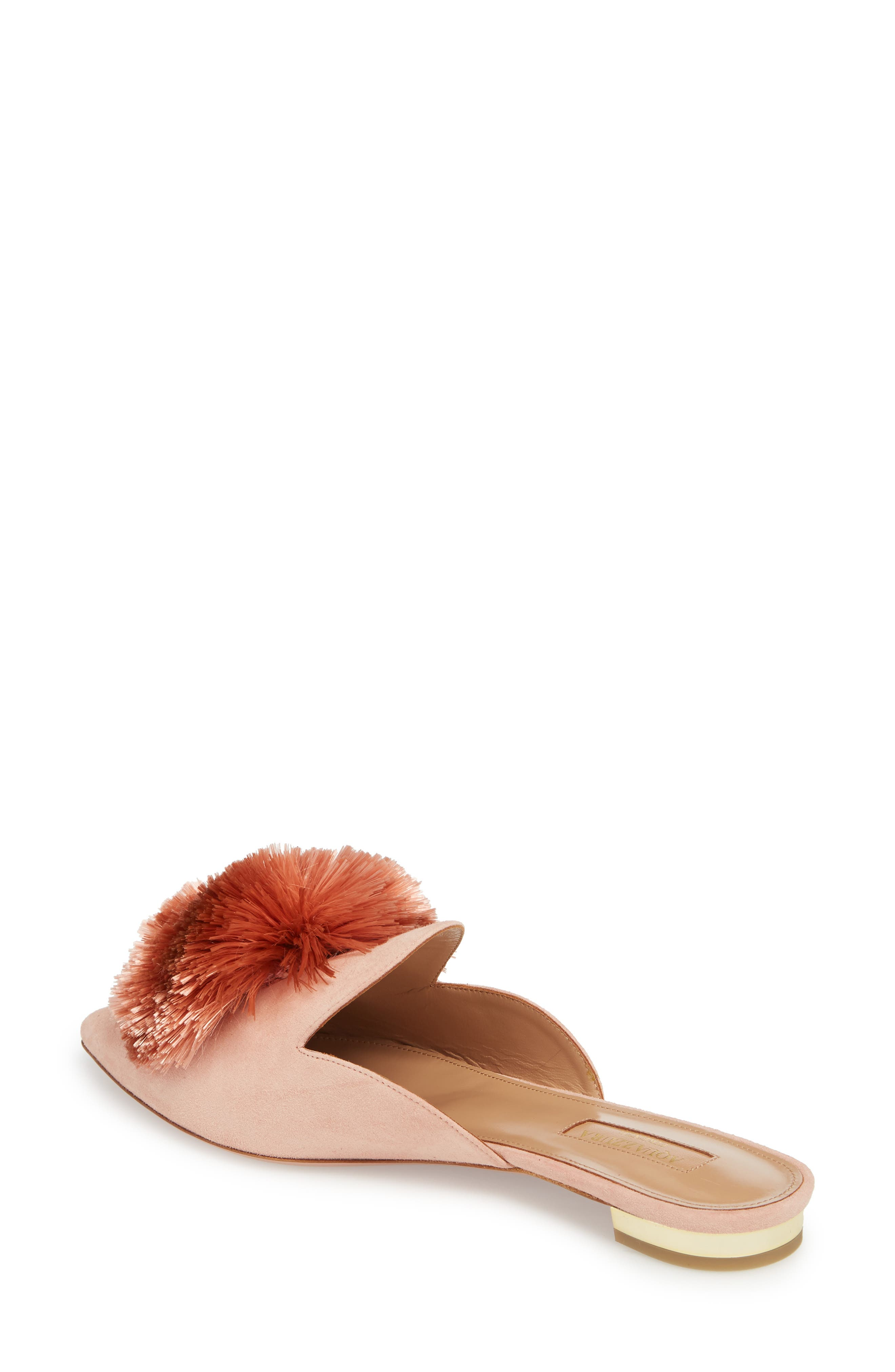 Powder Puff Pointy Toe Mule,                             Alternate thumbnail 2, color,                             French Rose