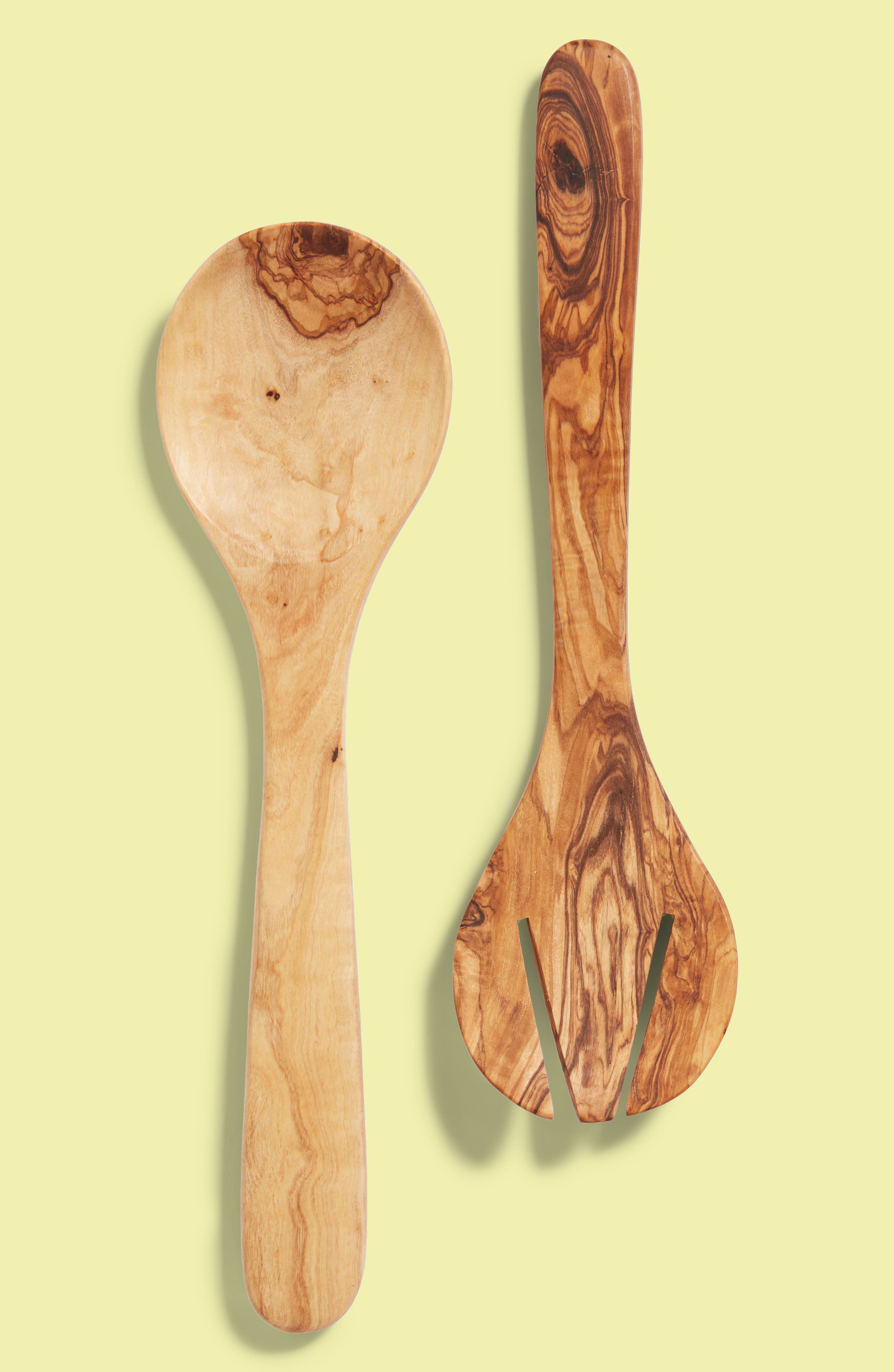 2-Piece Olive Wood Round Serving Set,                             Main thumbnail 1, color,                             Wood