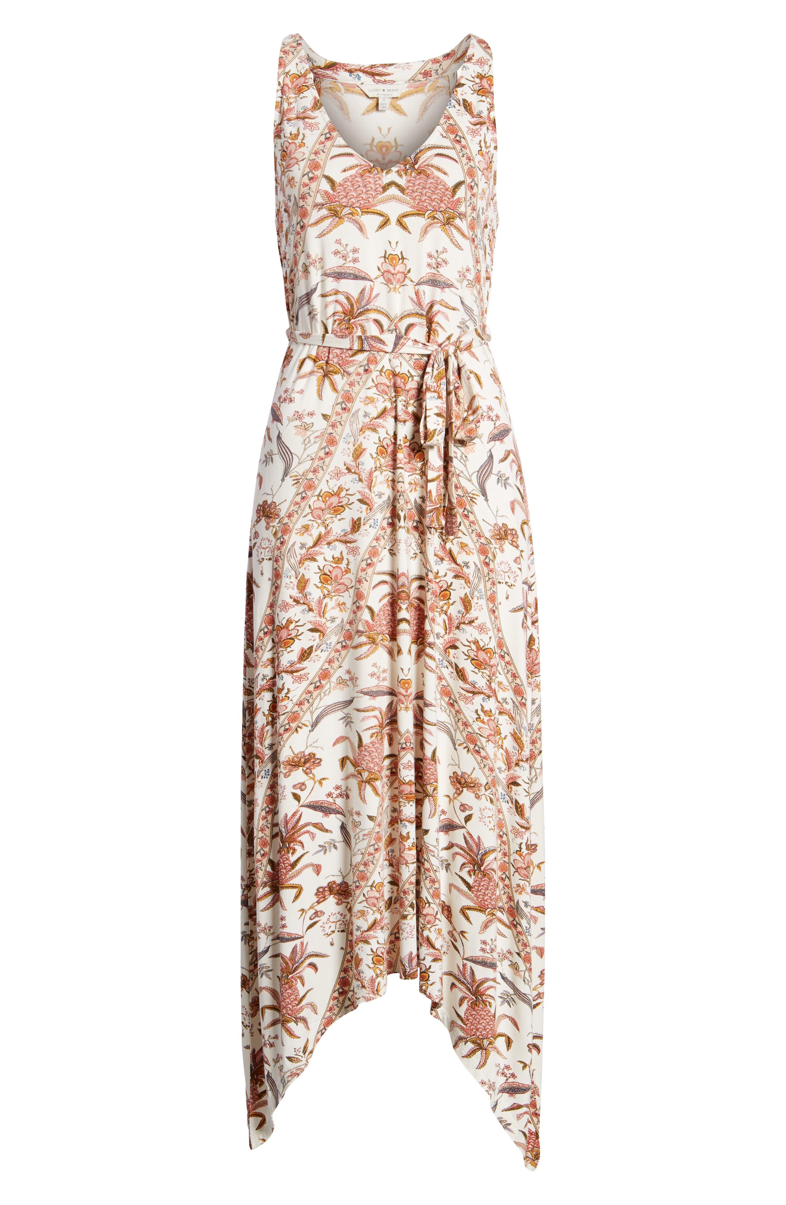 V-Neck Print Maxi Dress,                             Alternate thumbnail 7, color,                             Pink Multi