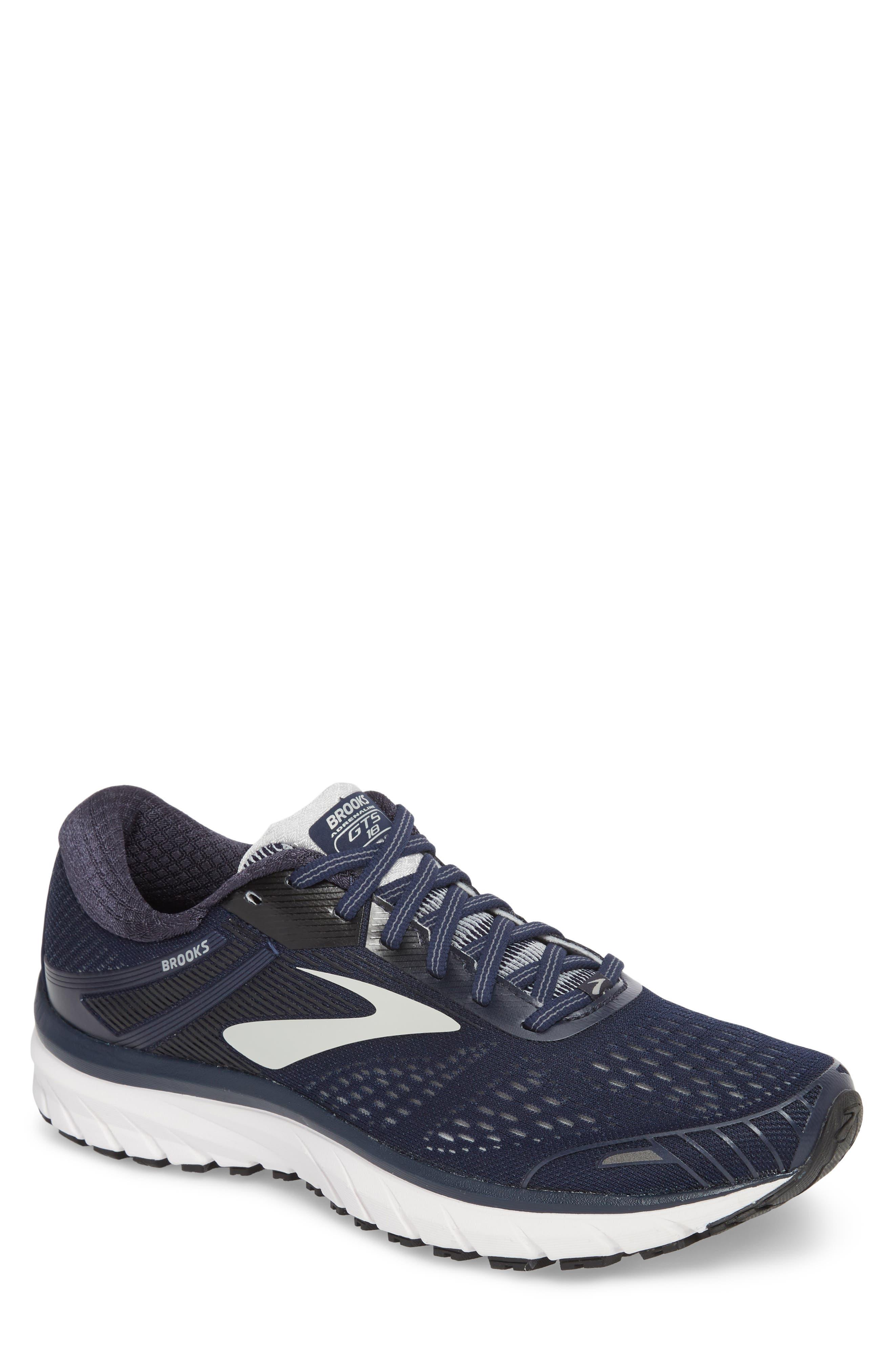 Adrenaline GTS 18 Running Shoe,                             Main thumbnail 1, color,                             Navy/ Grey/ Black