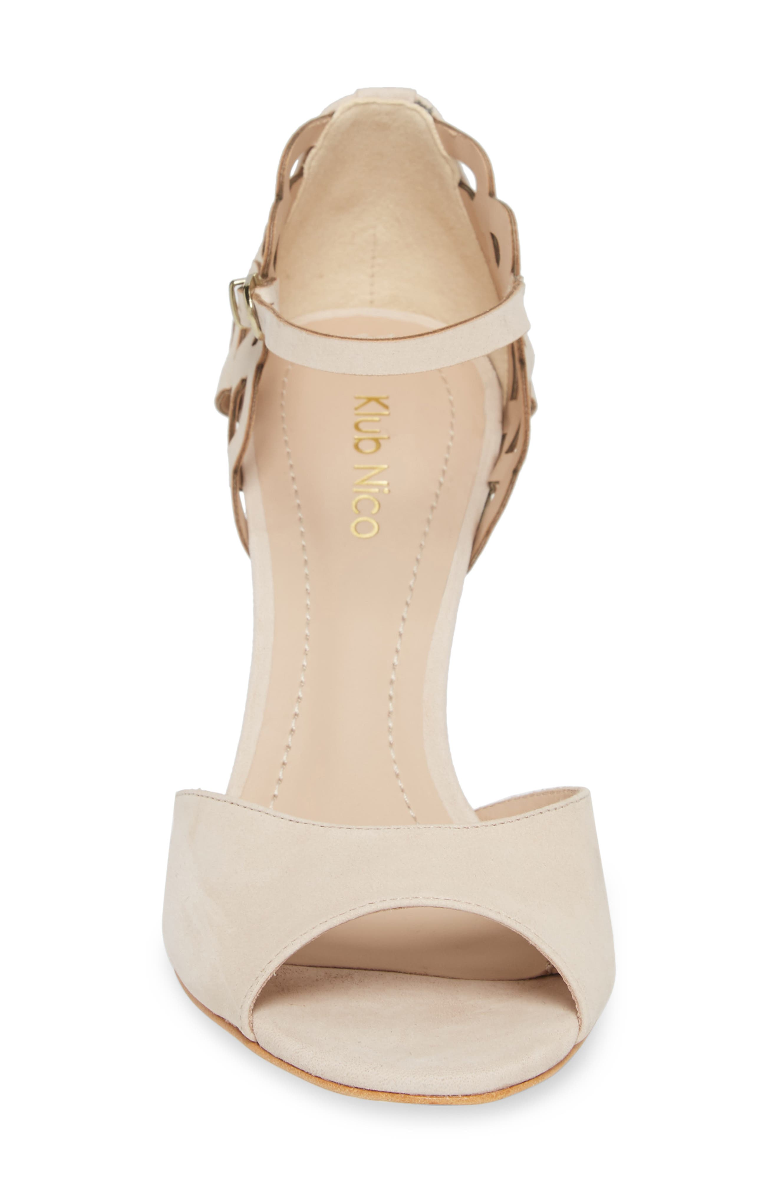 Adalie Sandal,                             Alternate thumbnail 4, color,                             Nude Leather