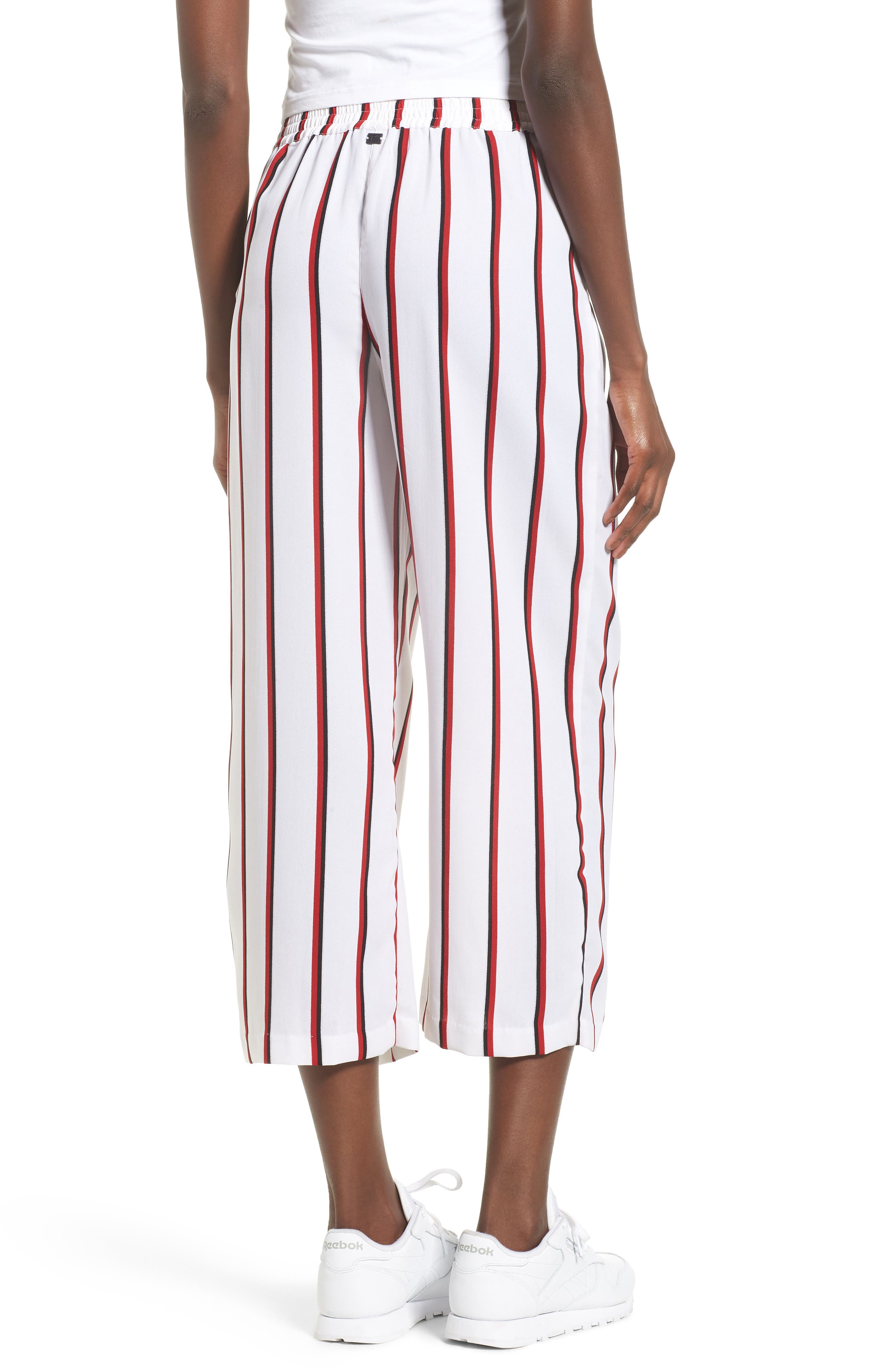 Counting Moons Stripe Culottes,                             Alternate thumbnail 2, color,                             Chili Red
