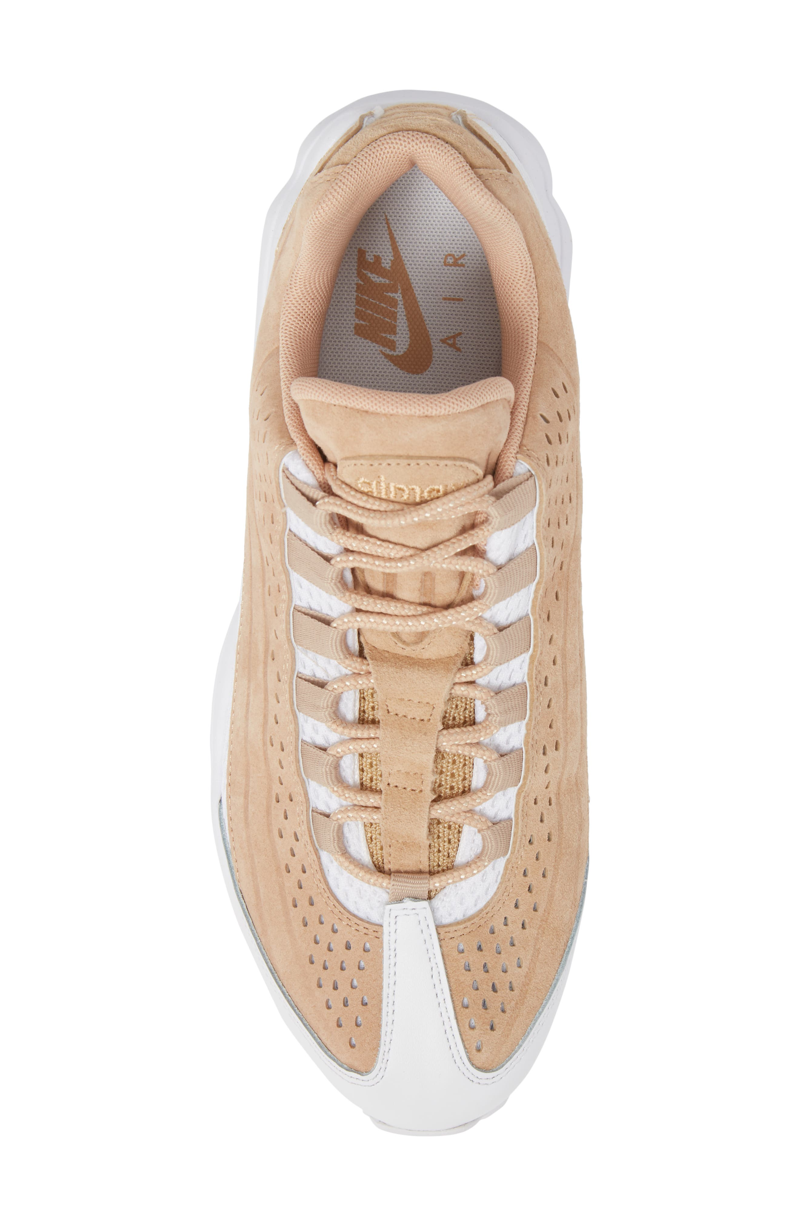 Air Max 95 Ultra Premium Sneaker,                             Alternate thumbnail 5, color,                             Vachetta Tan/ White