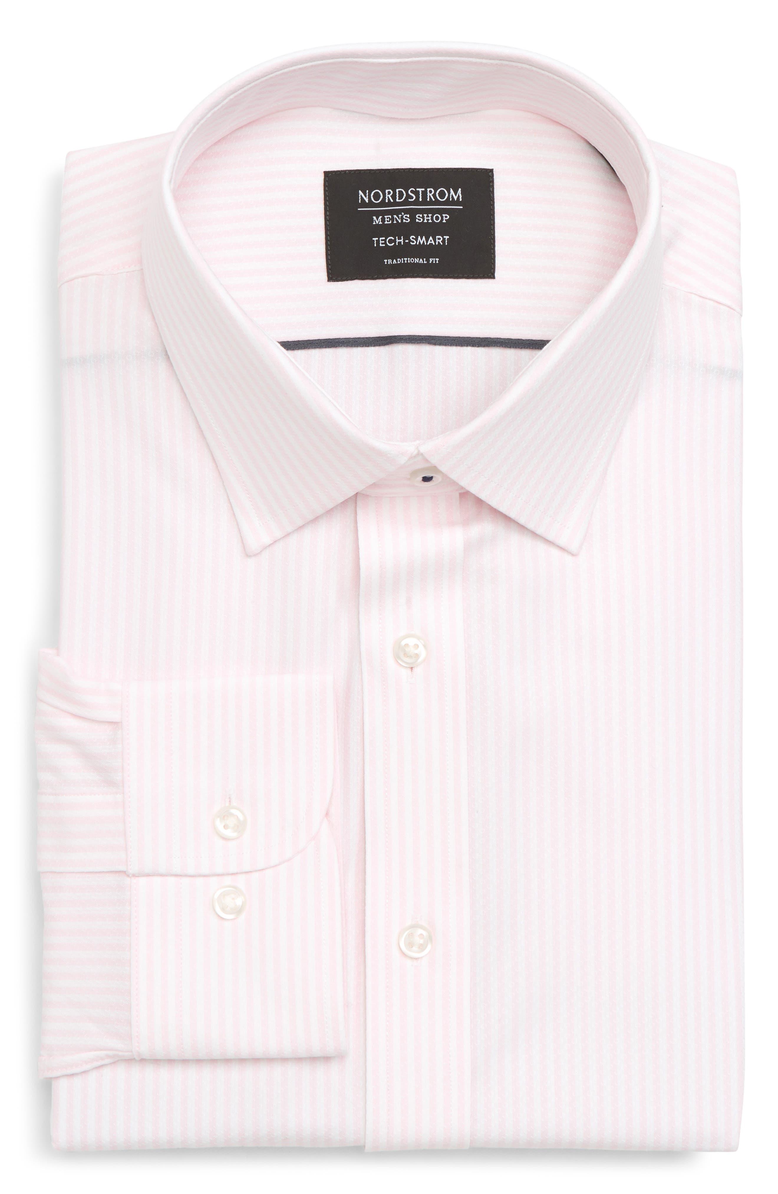 Nordstrom Men's Shop Tech-Smart Traditional Fit Stripe Stretch Dress Shirt