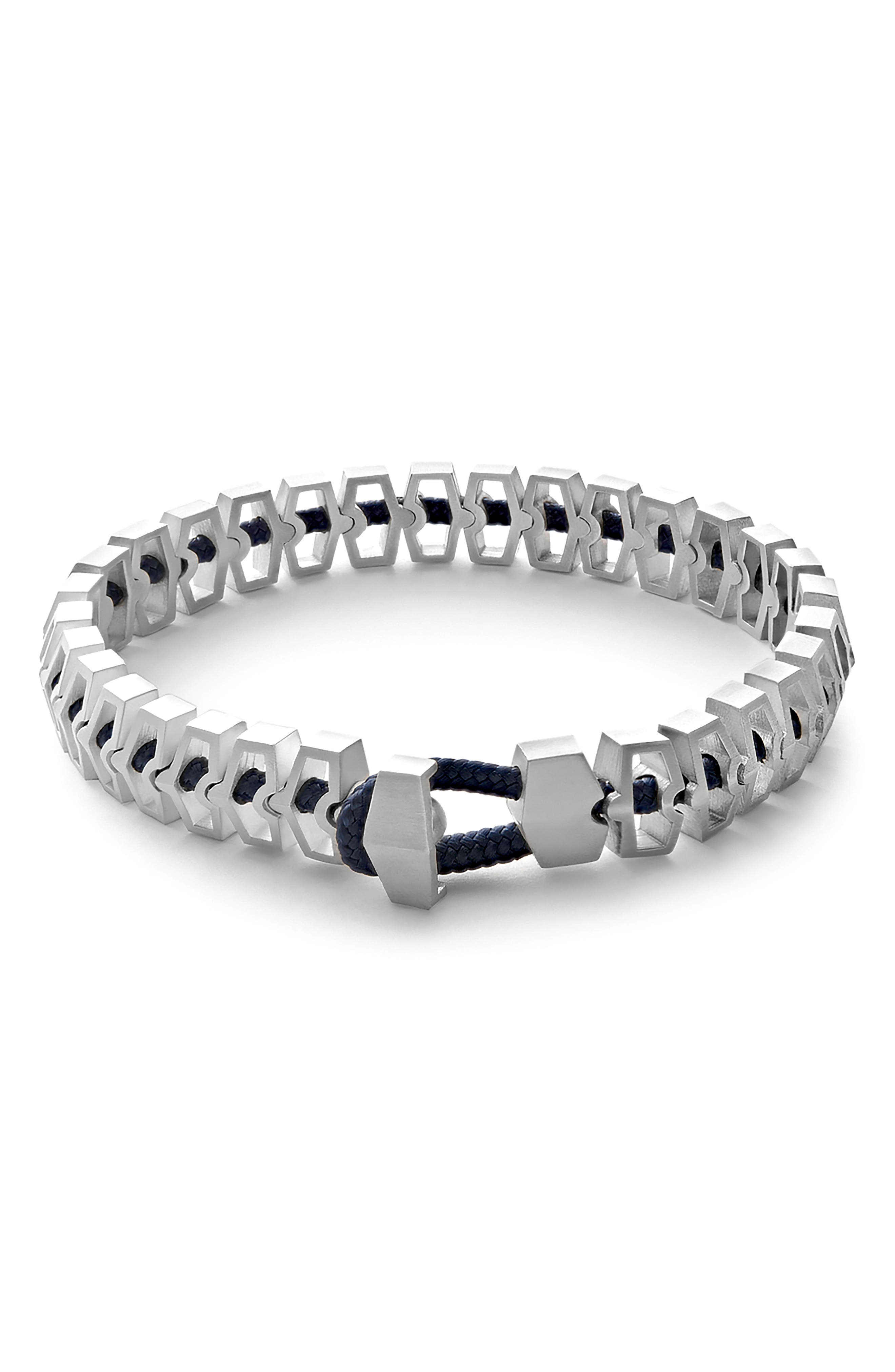 Harbour Bracelet,                             Main thumbnail 1, color,                             Silver/ Navy
