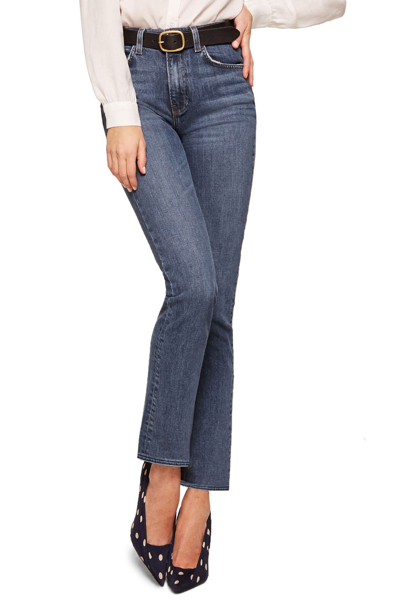 Liza High Waist Straight Leg Jeans,                         Main,                         color, Kasai