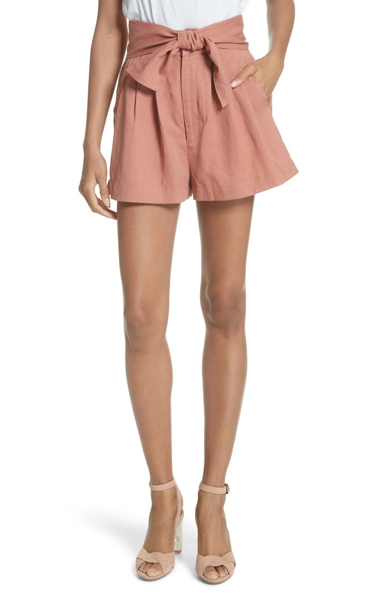 Martim Tie Waist Twill Shorts