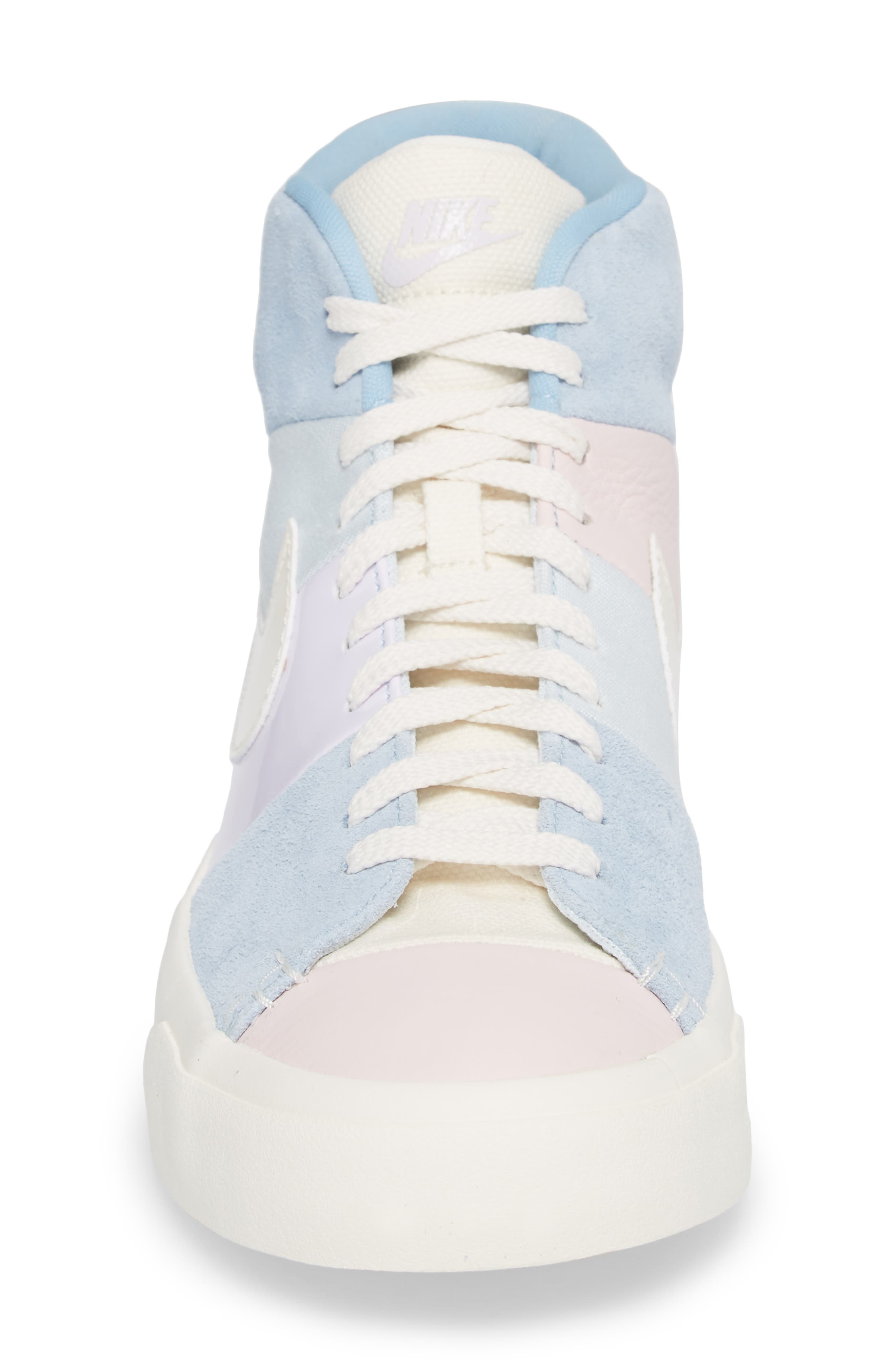 Blazer Royal Easter QS High Top Sneaker,                             Alternate thumbnail 4, color,                             Arctic Pink/ Sail-Blue-Blue