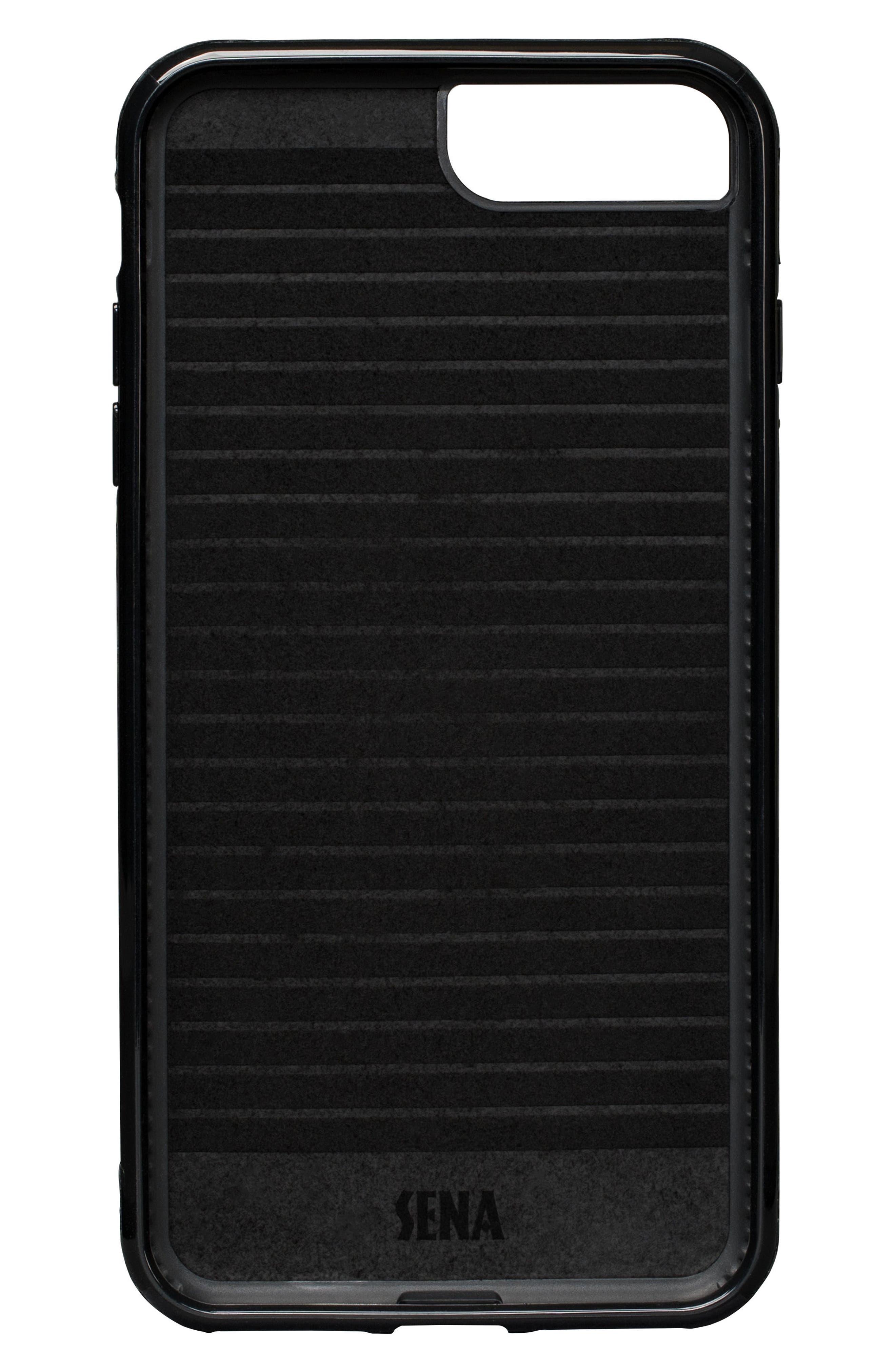 Bence Lugano iPhone 7/8 Plus Wallet Case,                             Alternate thumbnail 3, color,                             Black