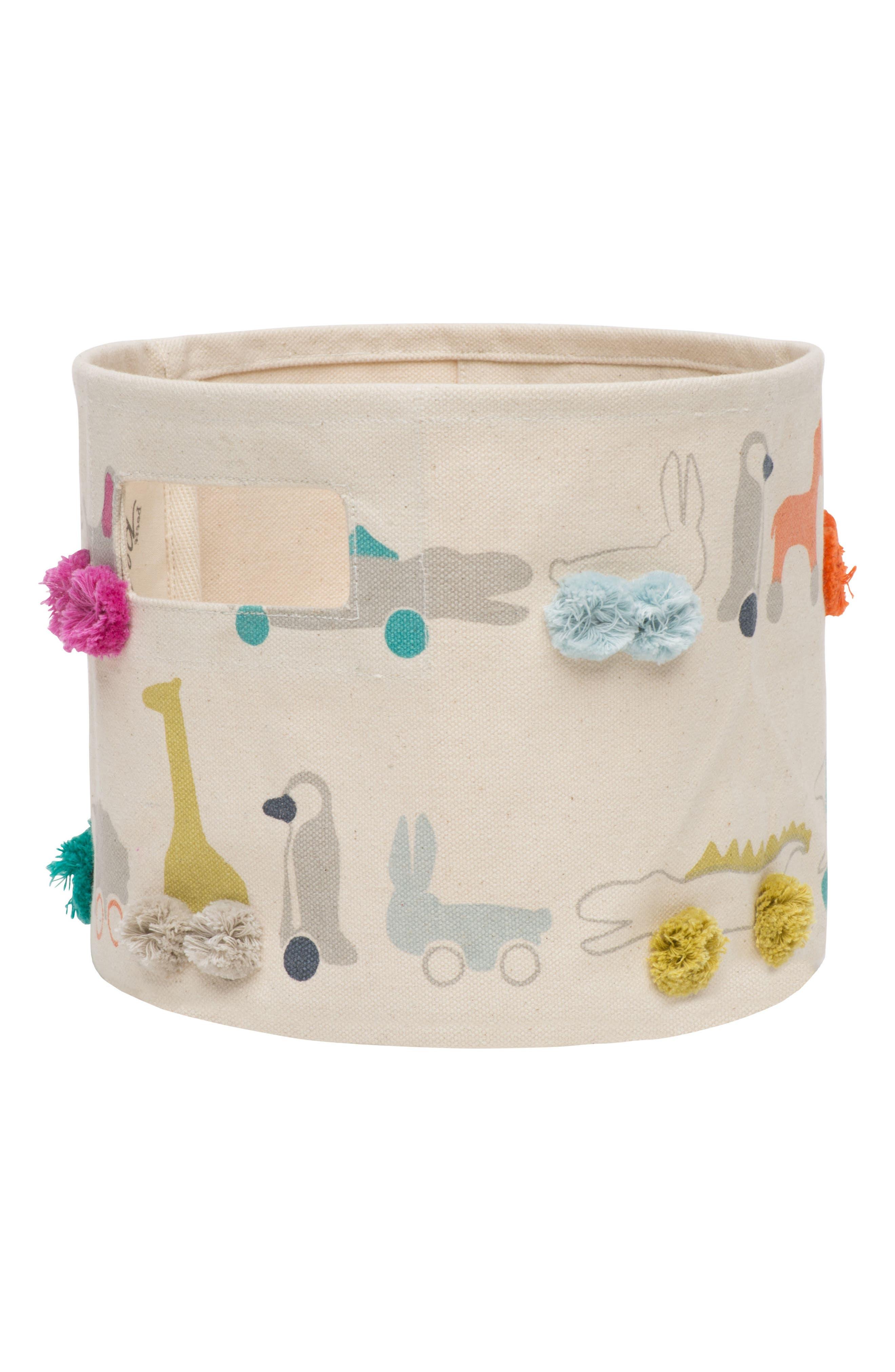 Mini Pull Toys Basket,                             Main thumbnail 1, color,                             Multi