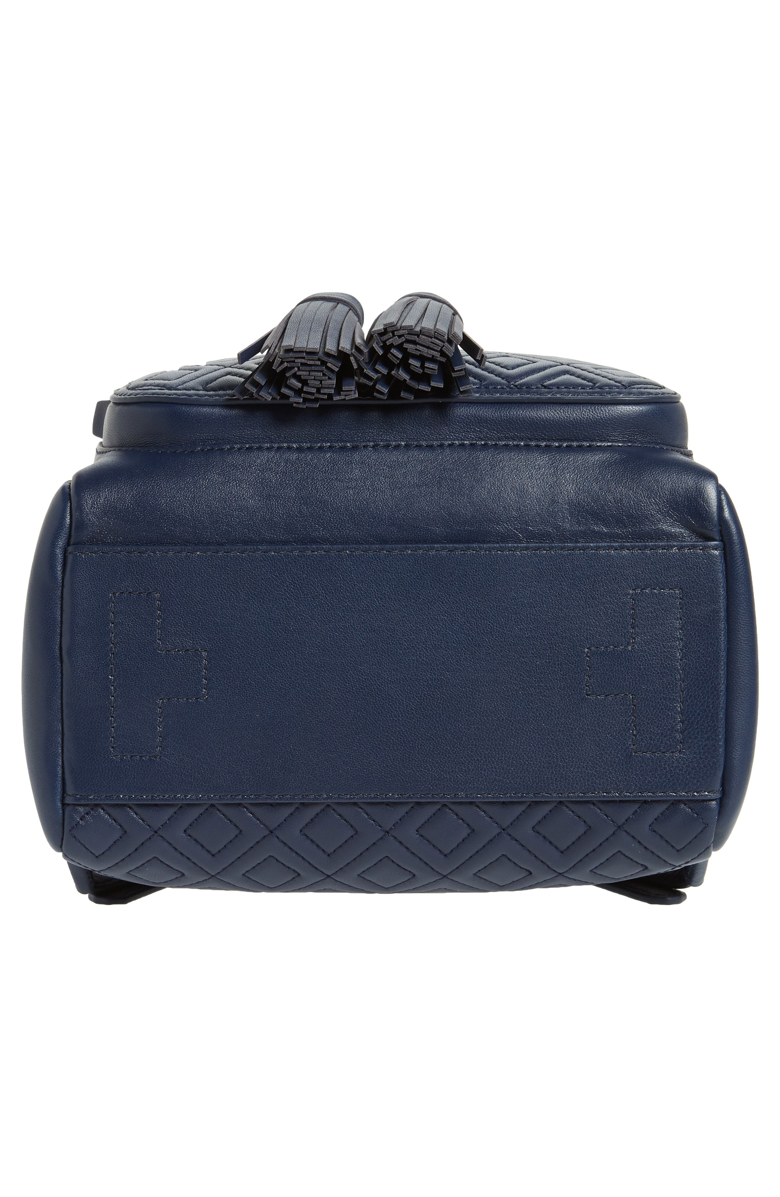 Fleming Lambskin Leather Backpack,                             Alternate thumbnail 6, color,                             Royal Navy