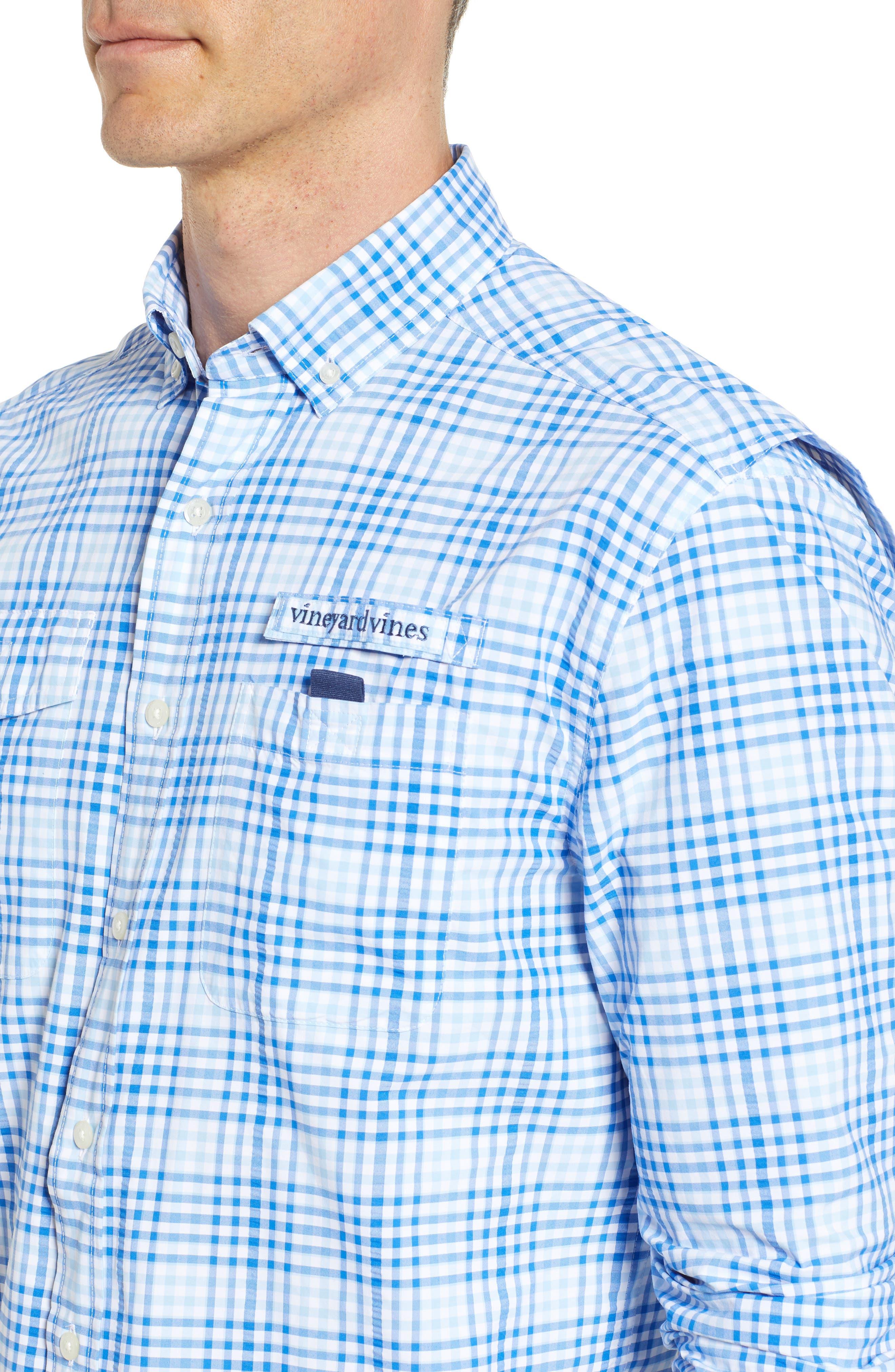 South Shore Harbor Regular Fit Plaid Performance Sport Shirt,                             Alternate thumbnail 2, color,                             Jake Blue
