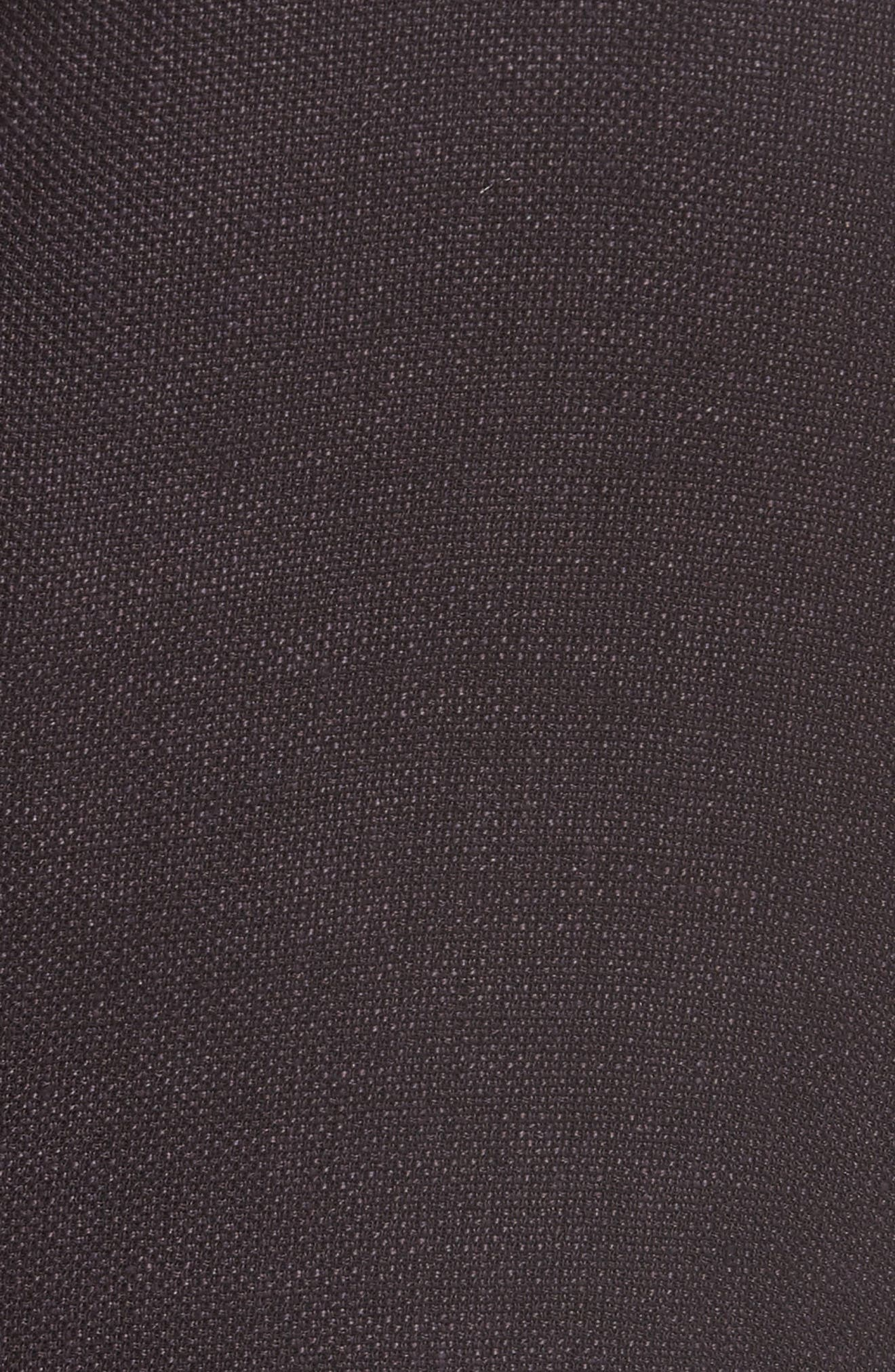 Trim Fit Linen Blend Blazer,                             Alternate thumbnail 5, color,                             Aubergine