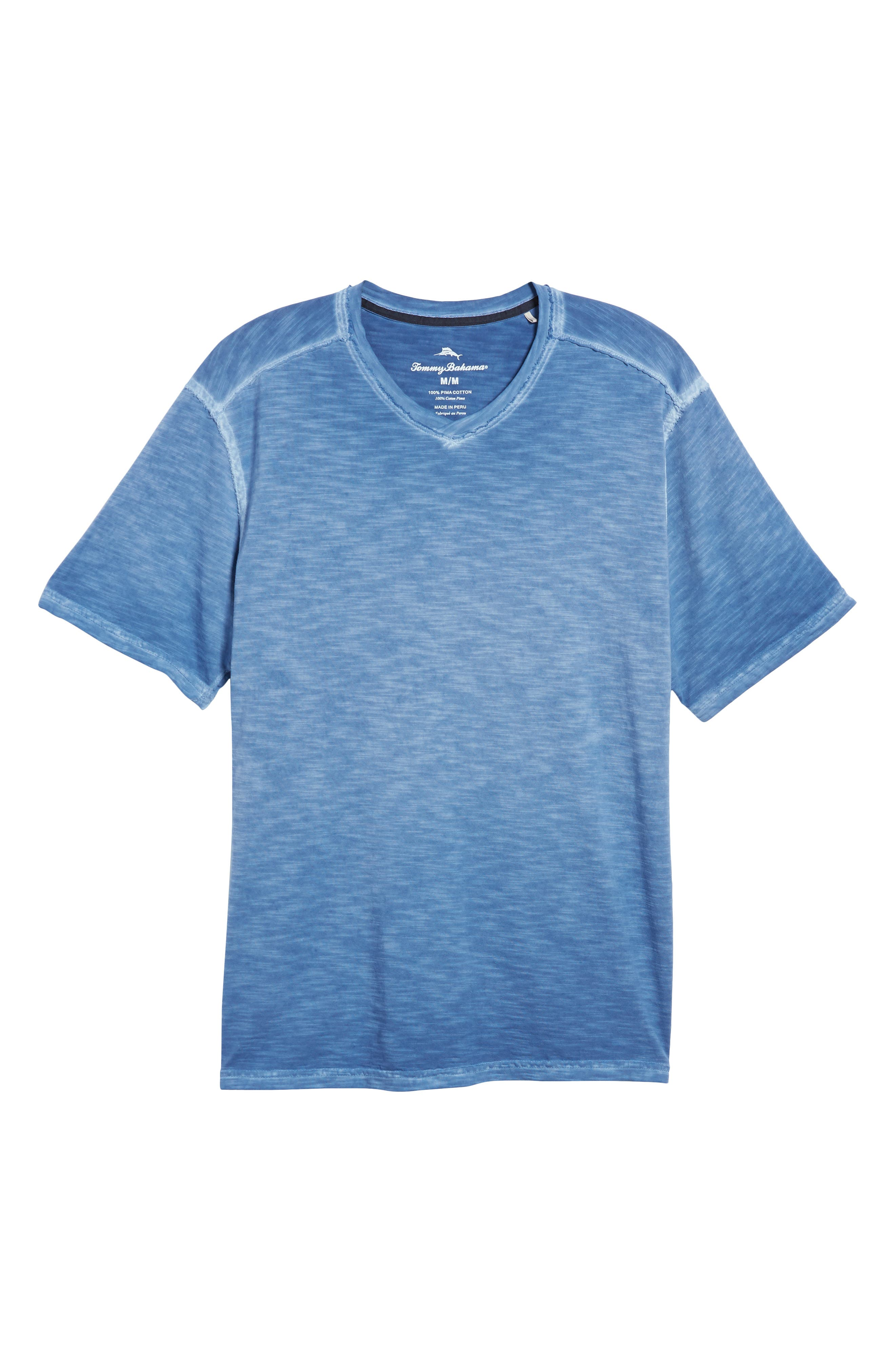 Suncoast Shores V-Neck T-Shirt,                             Alternate thumbnail 6, color,                             Dockside Blue